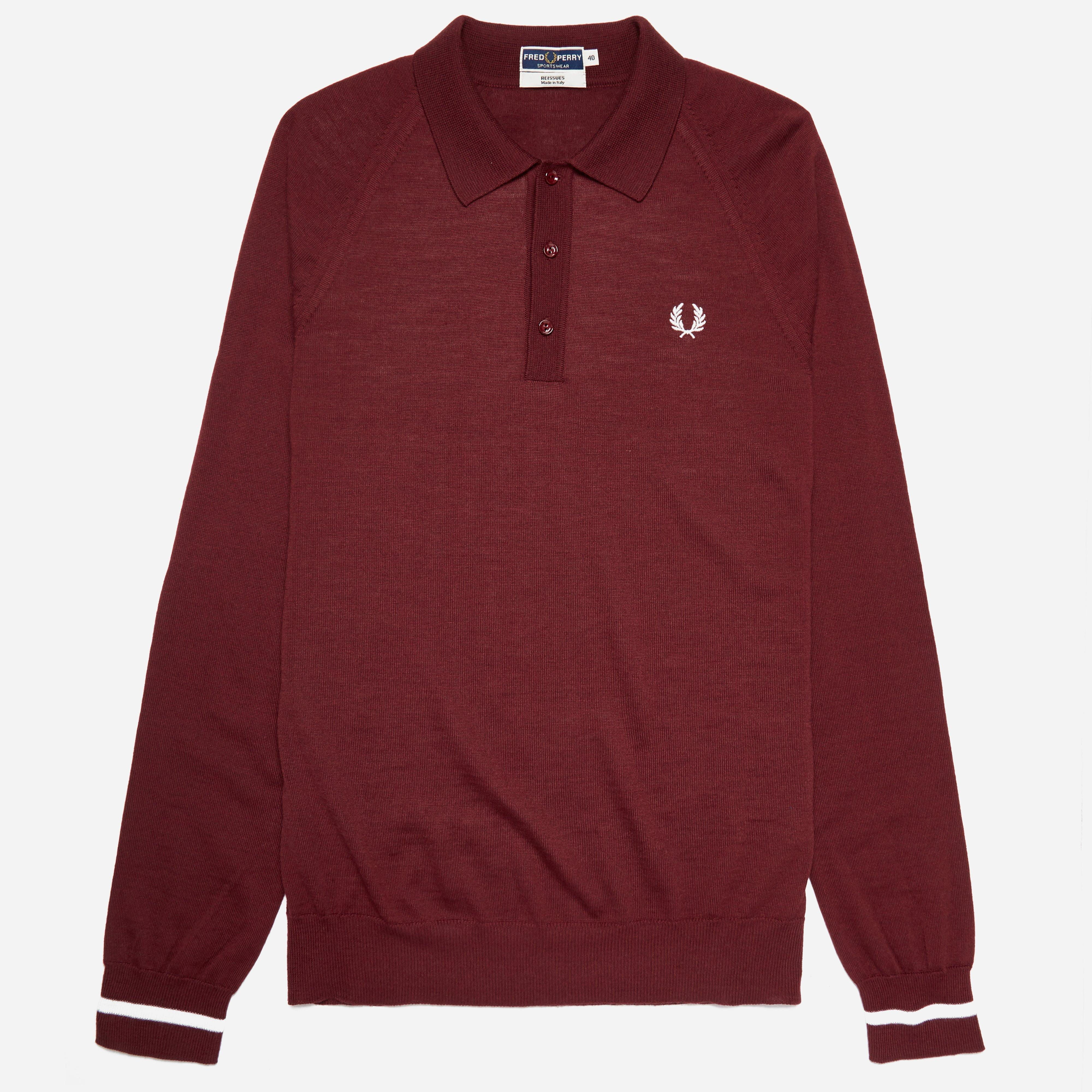 Fred Perry Reissues Long Sleeve Tipped Knitted Polo