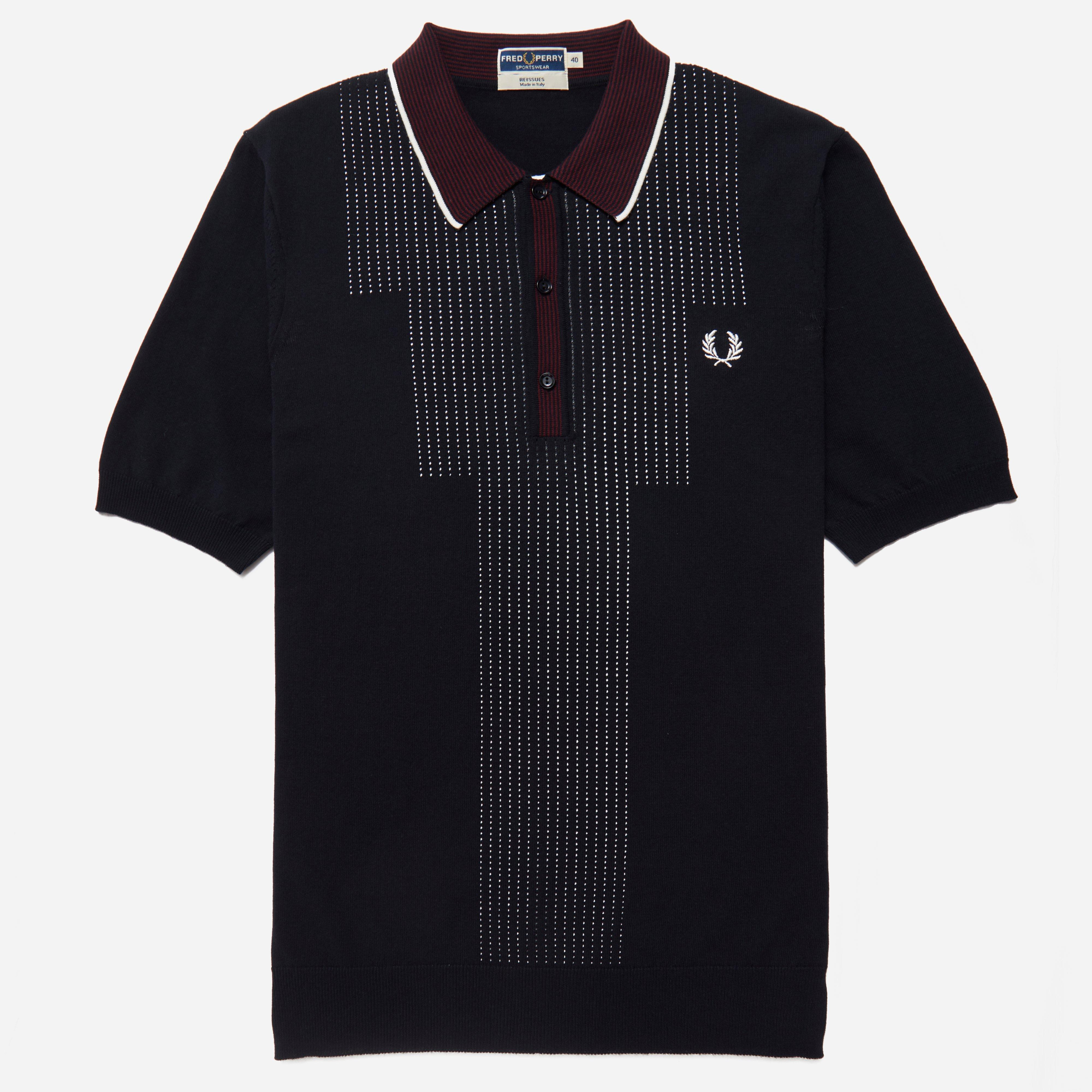 Fred Perry Reissues Pointelle Knitted Polo