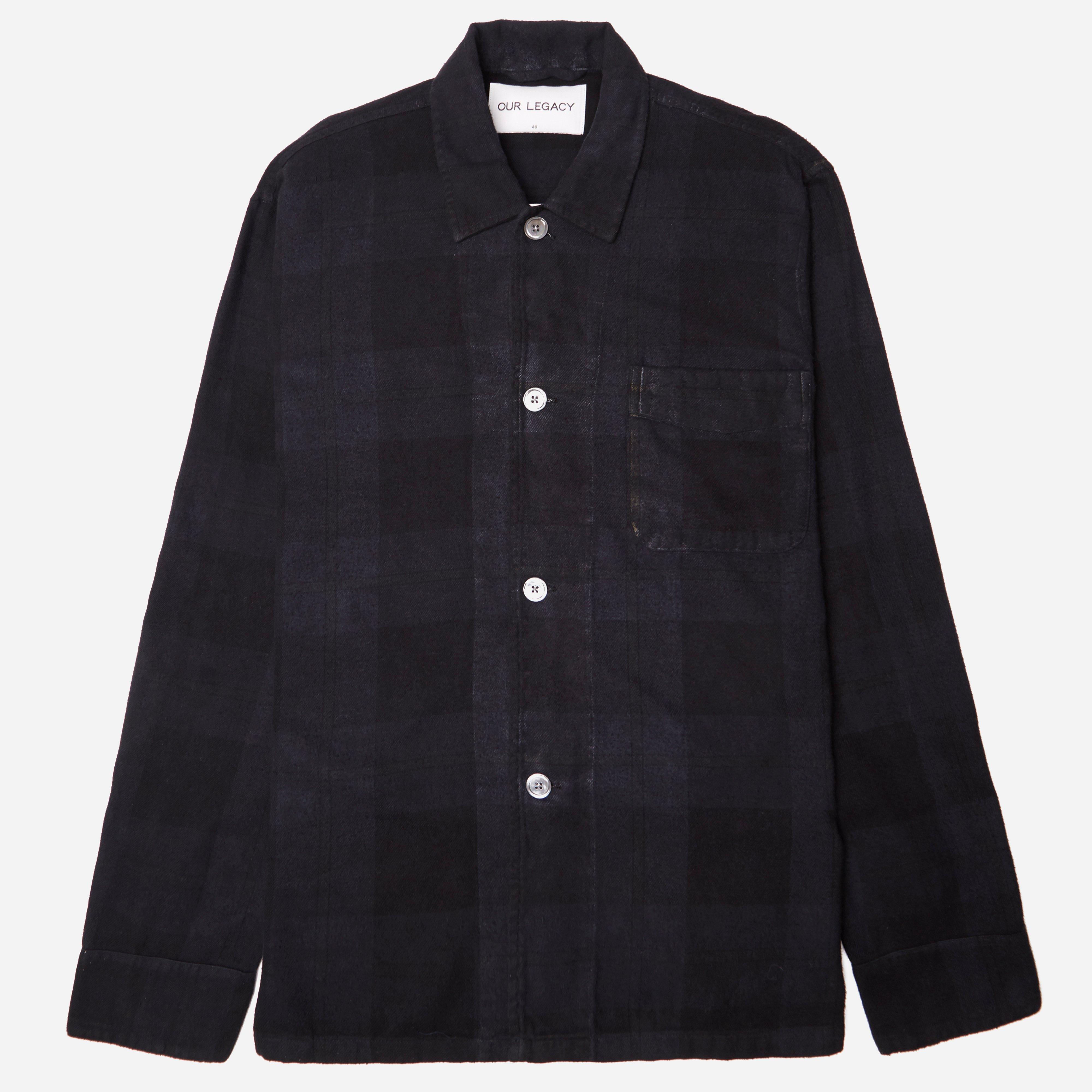 Our Legacy Overdyed Check Box Shirt