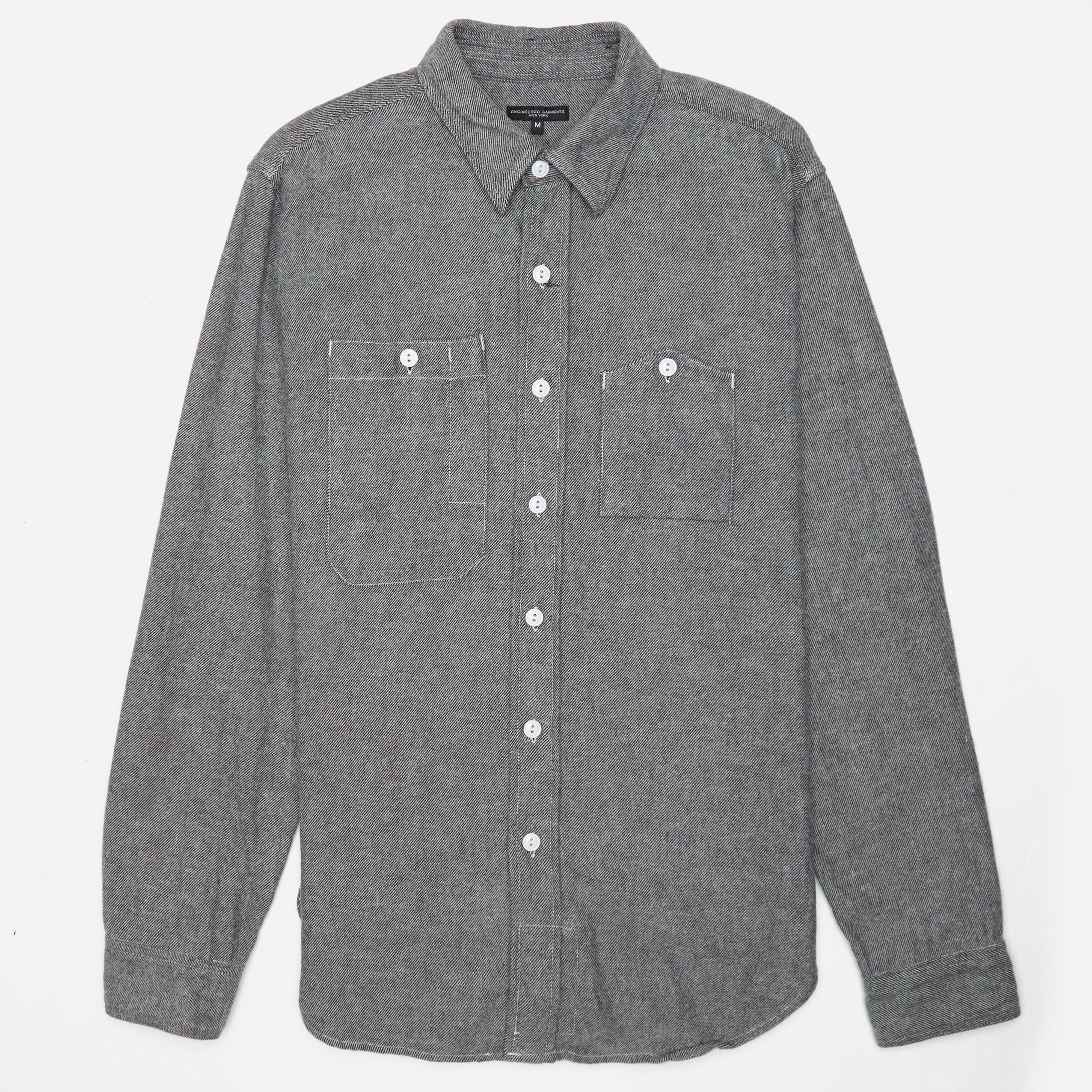 Engineered Garments Work Shirt - Solid Flannel
