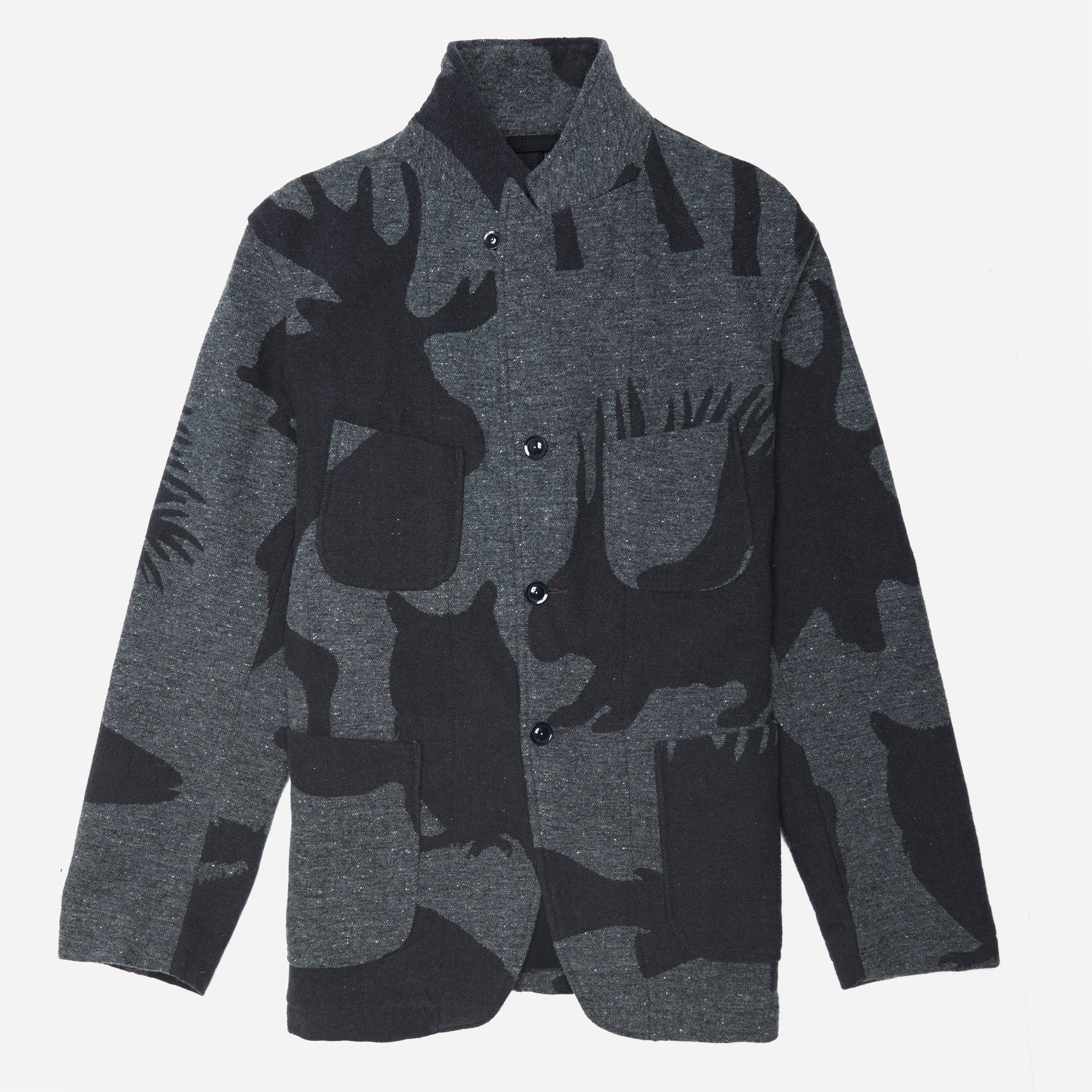 Engineered Garments Bedford Jacket - Animal Wool Jacquard