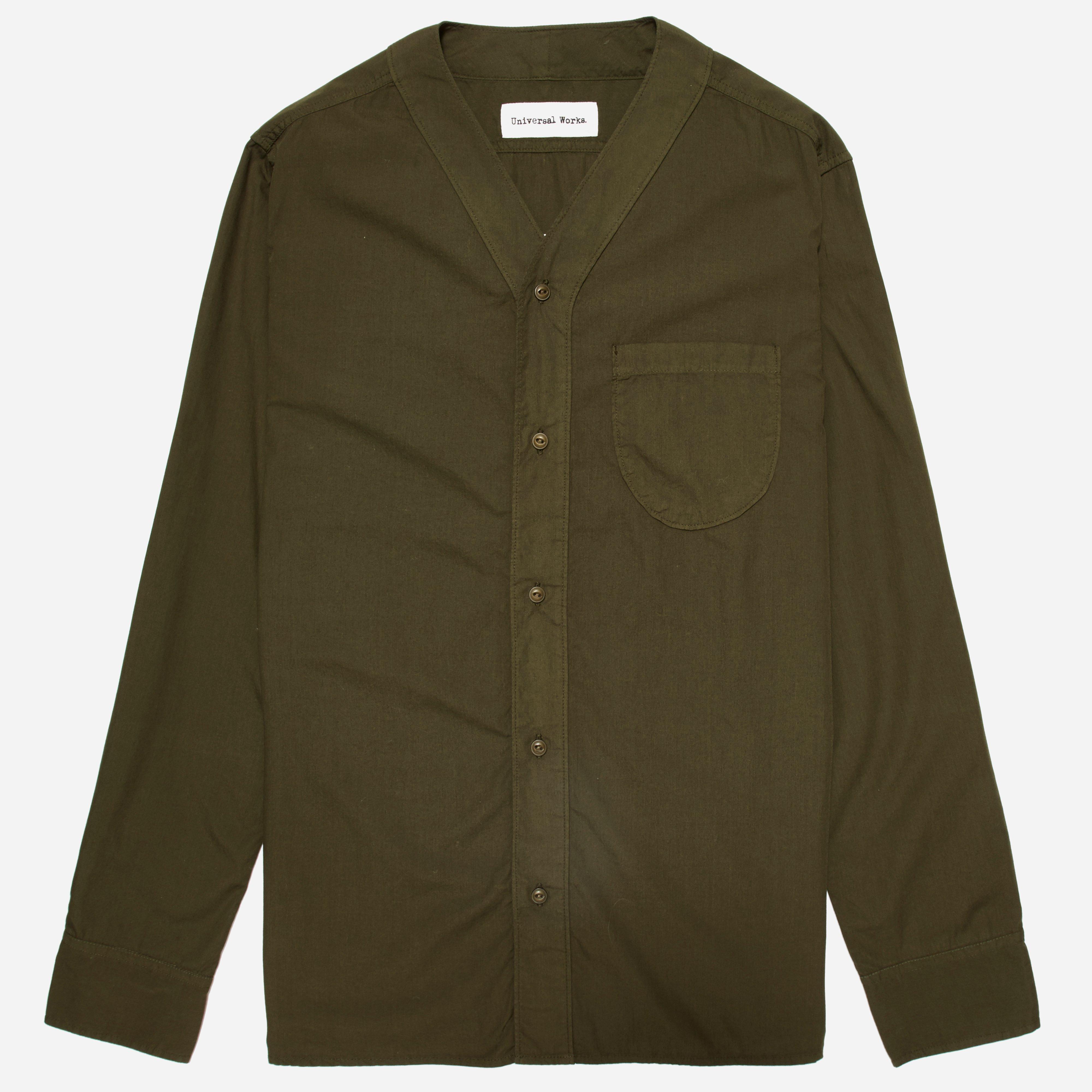 Universal Works Poplin V Neck Shirt