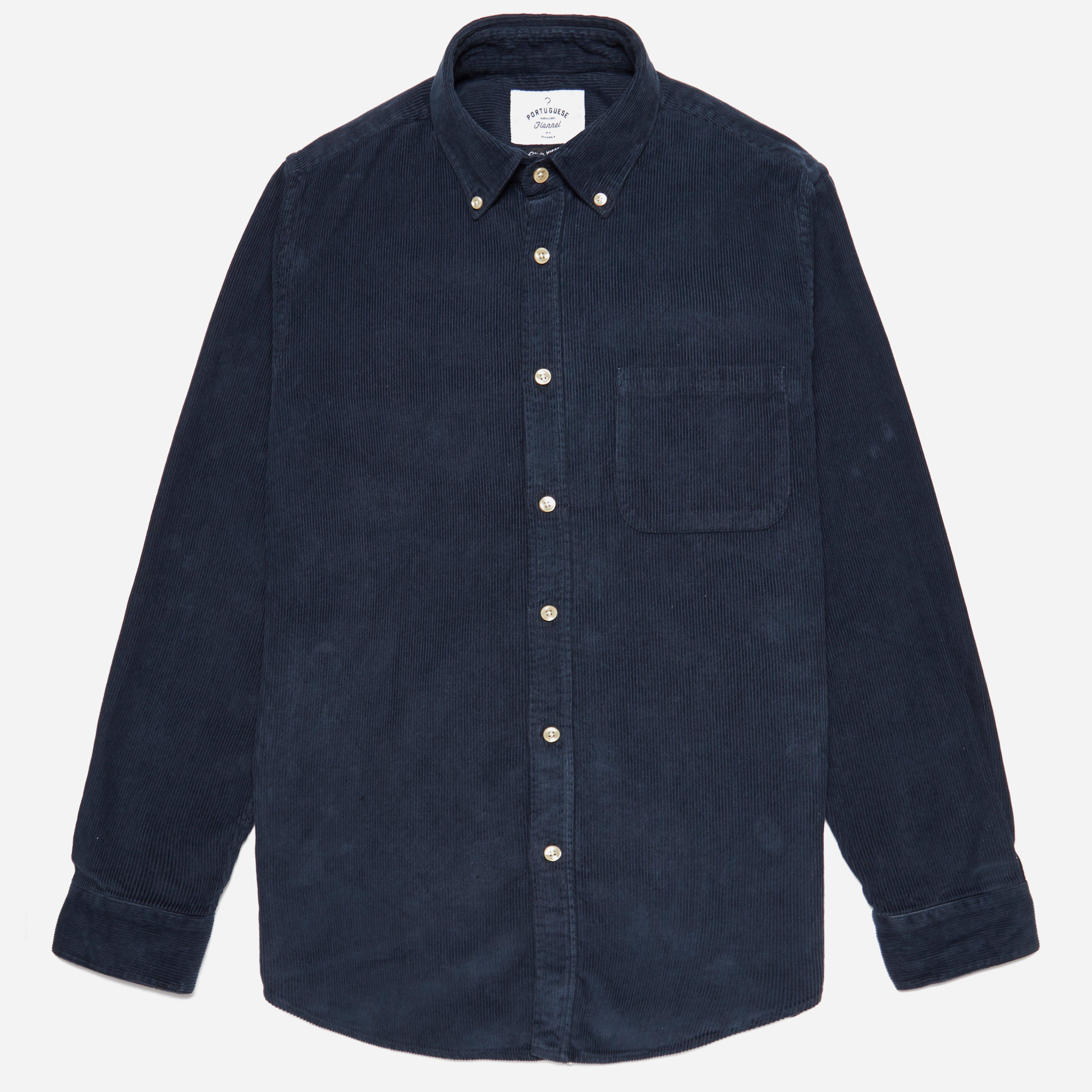 Portuguese Flannel Cord Button Down Shirt