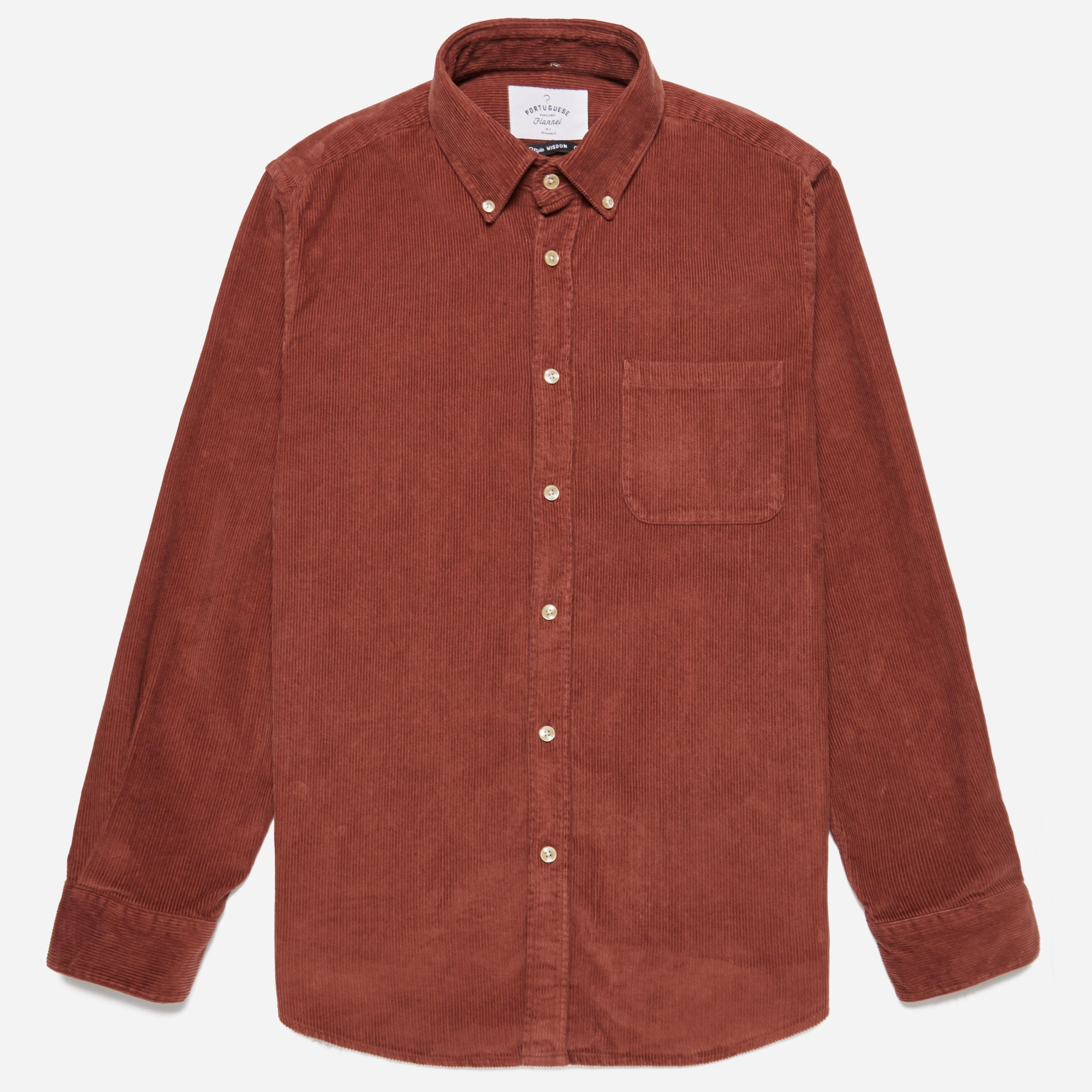 Portuguese Flannel Cord Button Down Shirt
