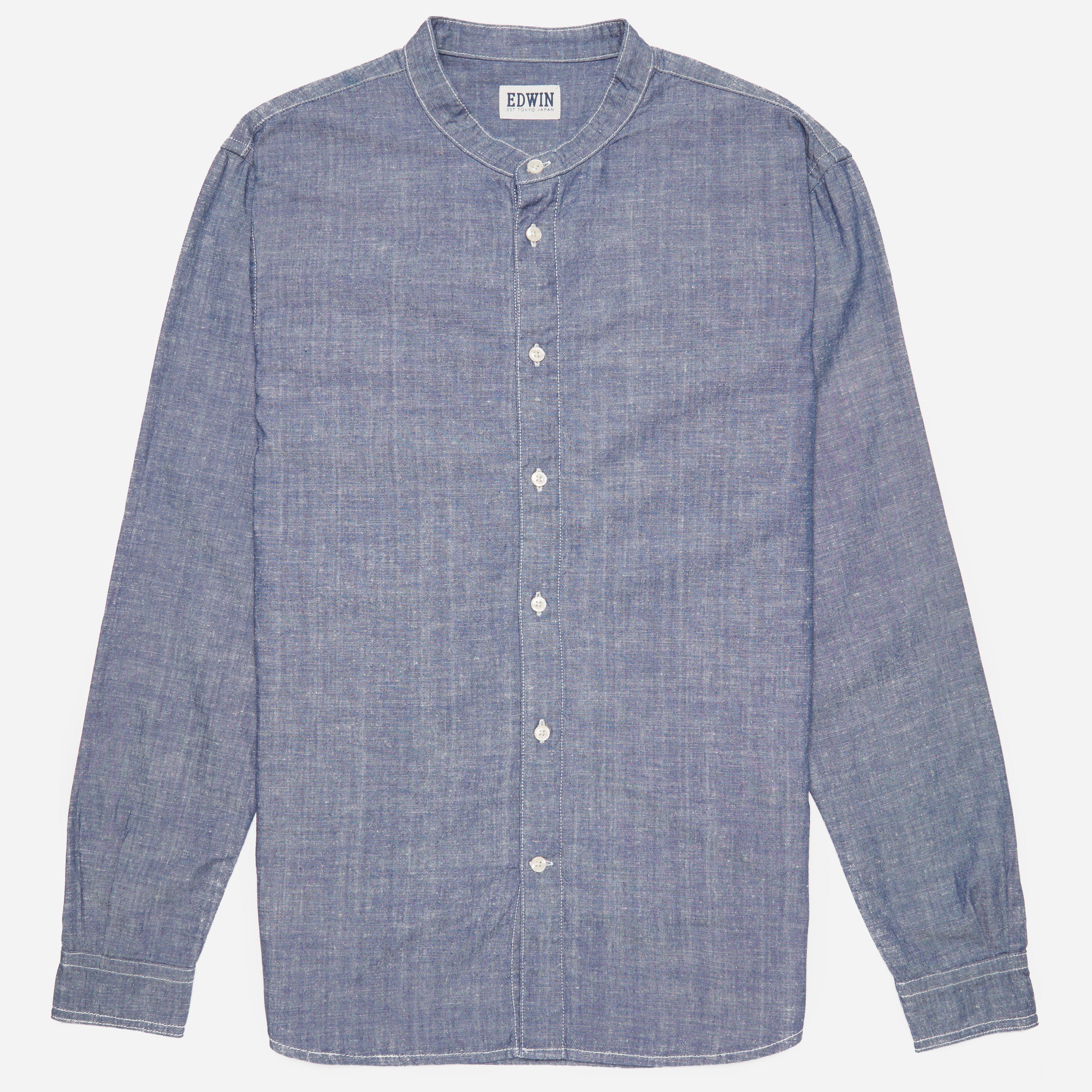 Edwin Plain Chambray Sailman Shirt