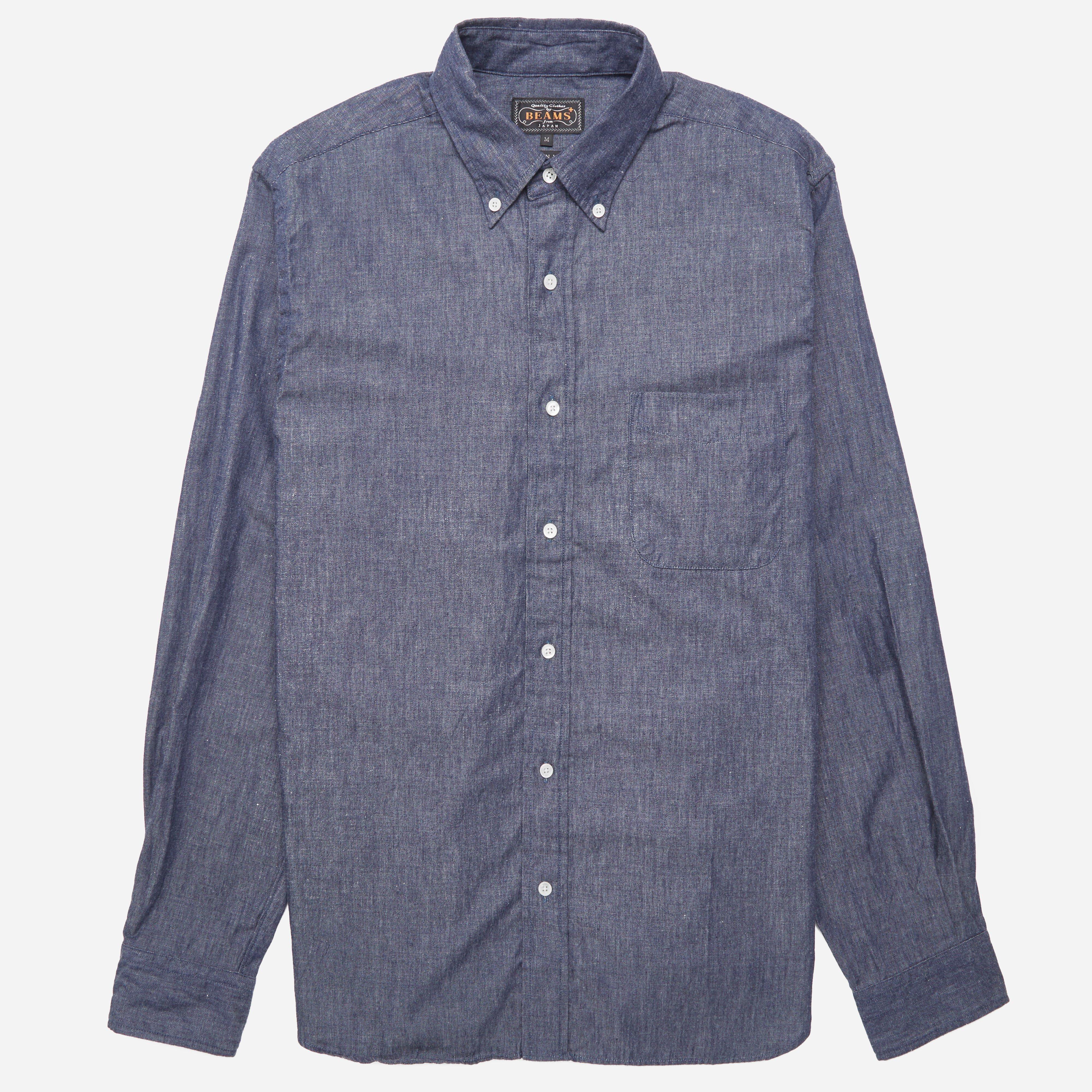 Beams Plus Button Down Denim Shirt