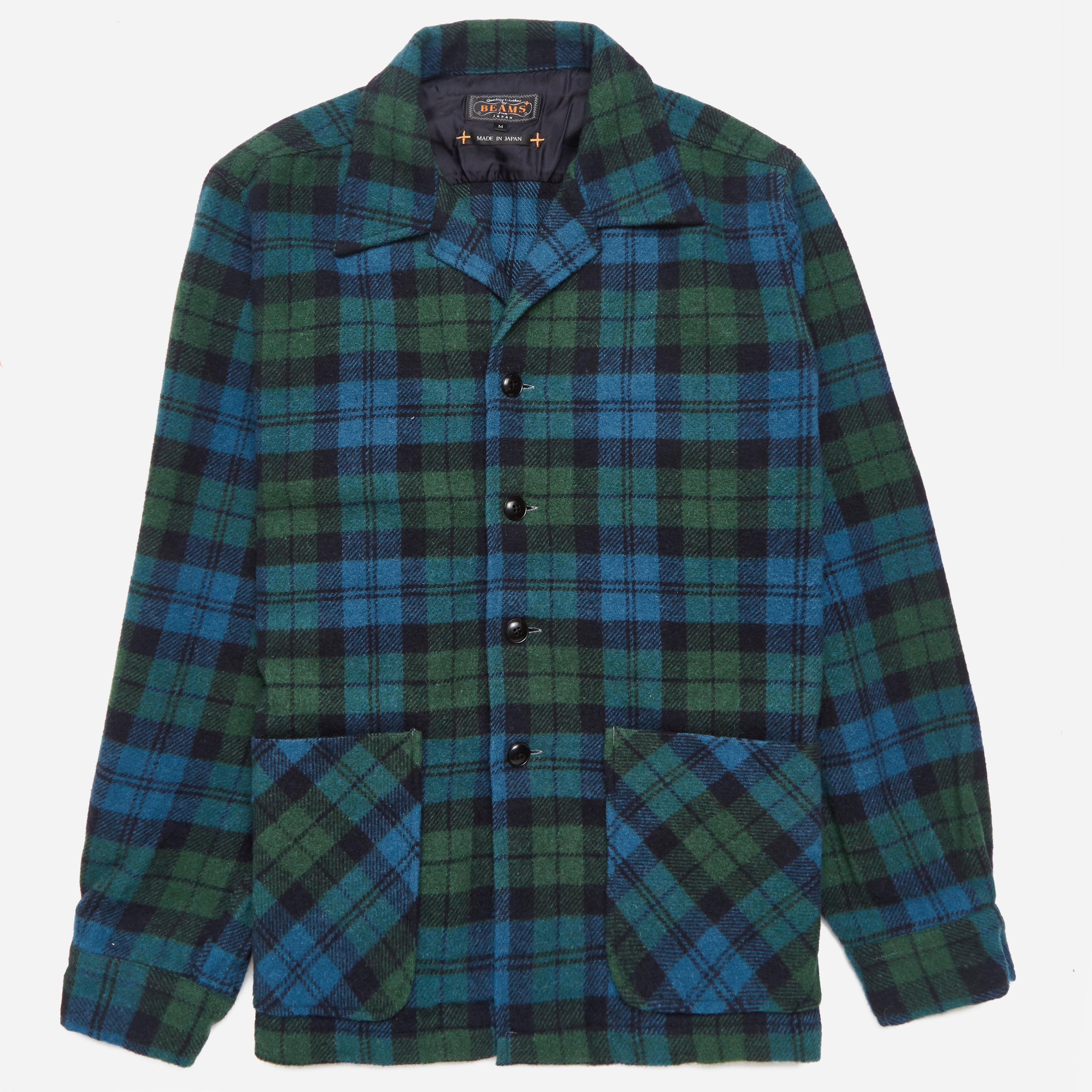 Beams Plus Checked Camp Collar Shirt Jacket