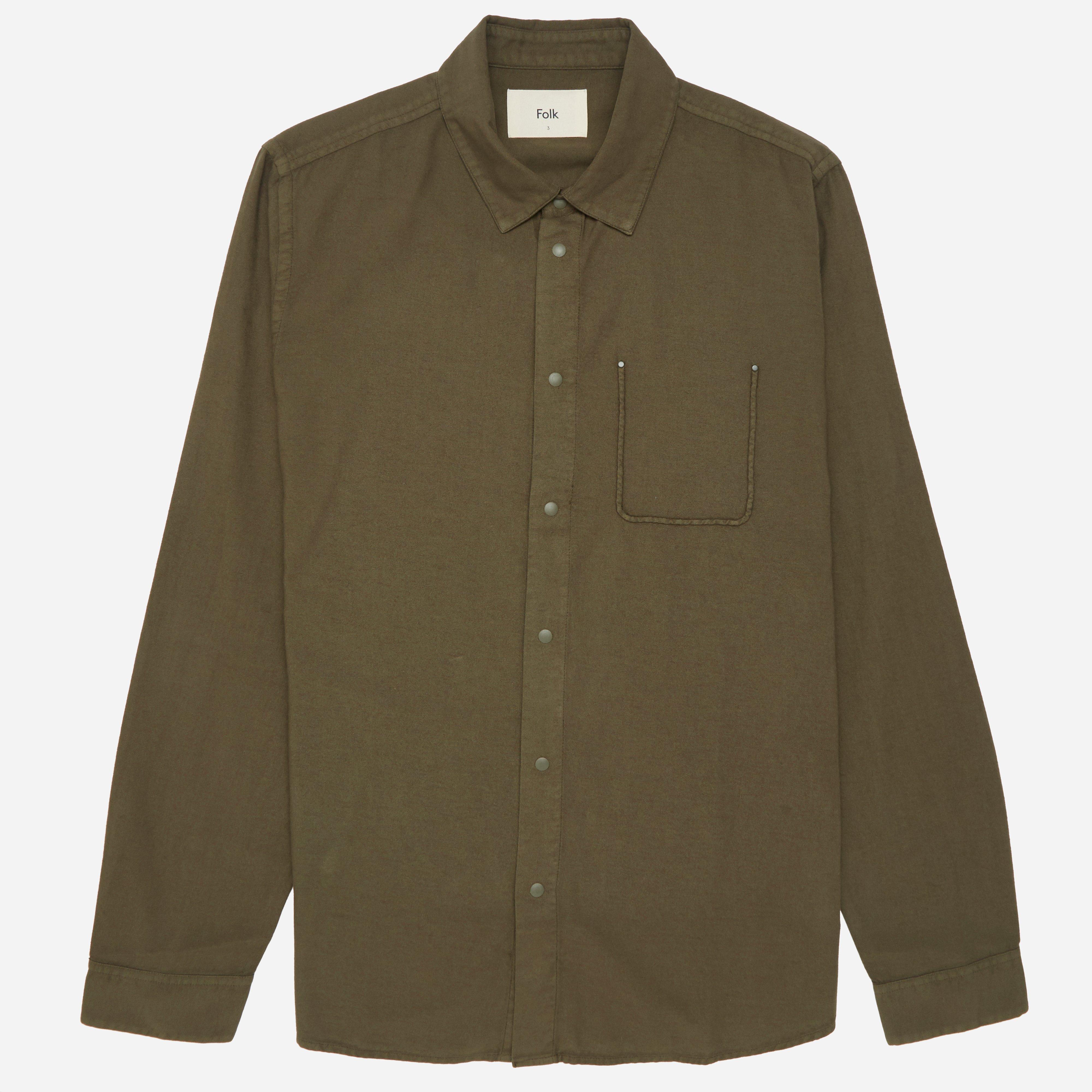 Folk Flannel Pop Stud Shirt