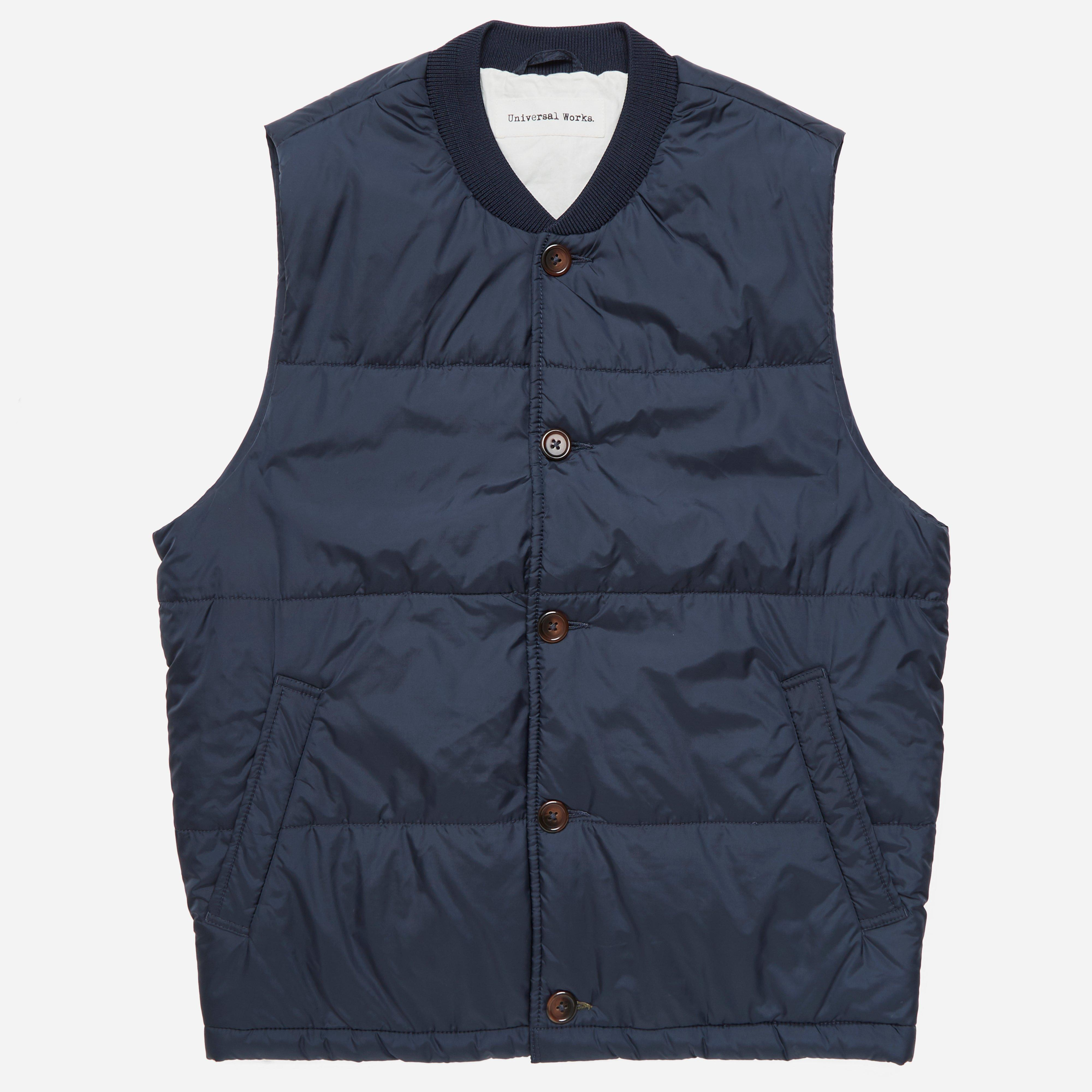 Universal Works Italian Nylon Quilted Gilet