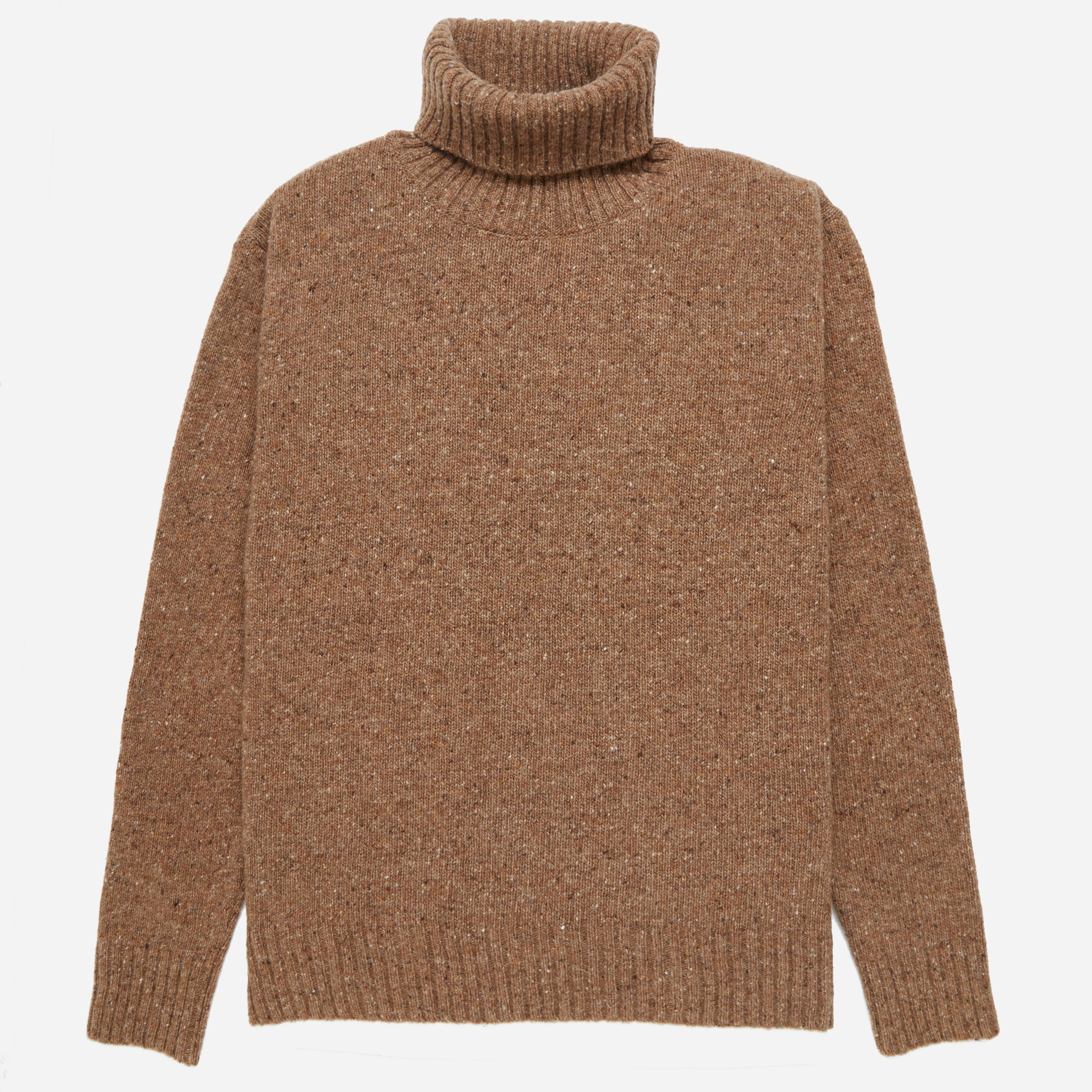 Universal Works Lamswool Fleck Roll Neck