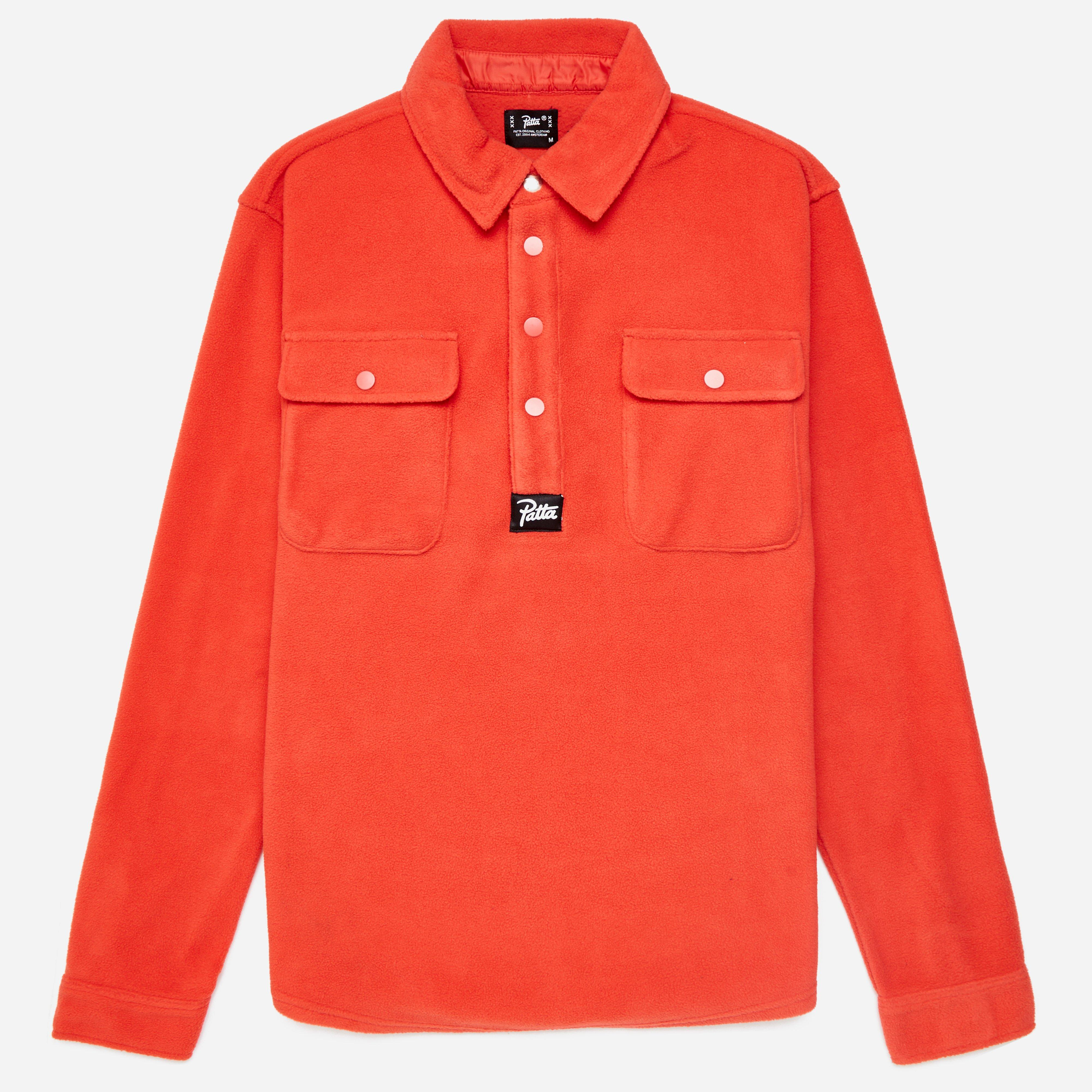 Patta Label Fleece Overhead Shirt