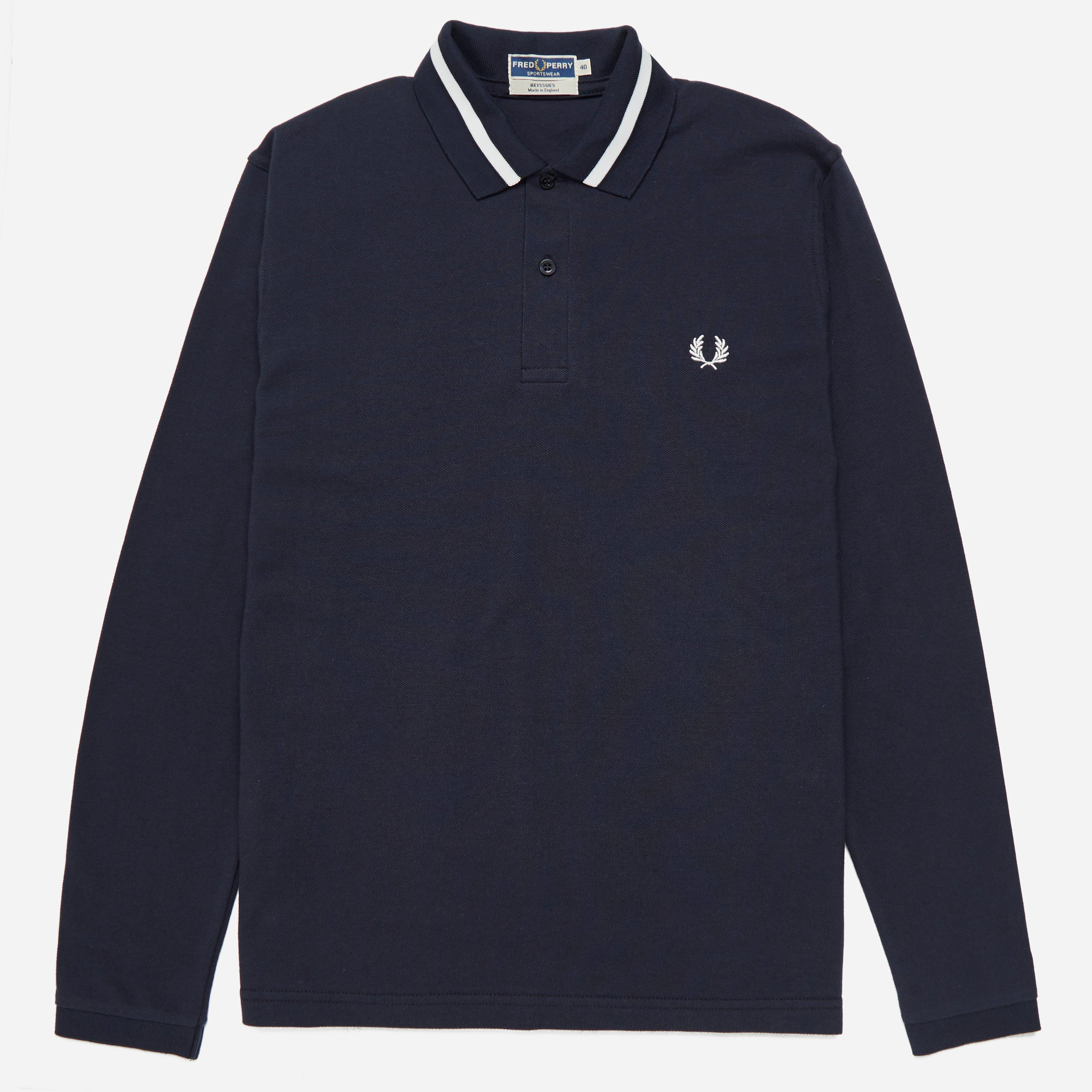 Fred Perry Reissues Long Sleeve Single Tipped Polo