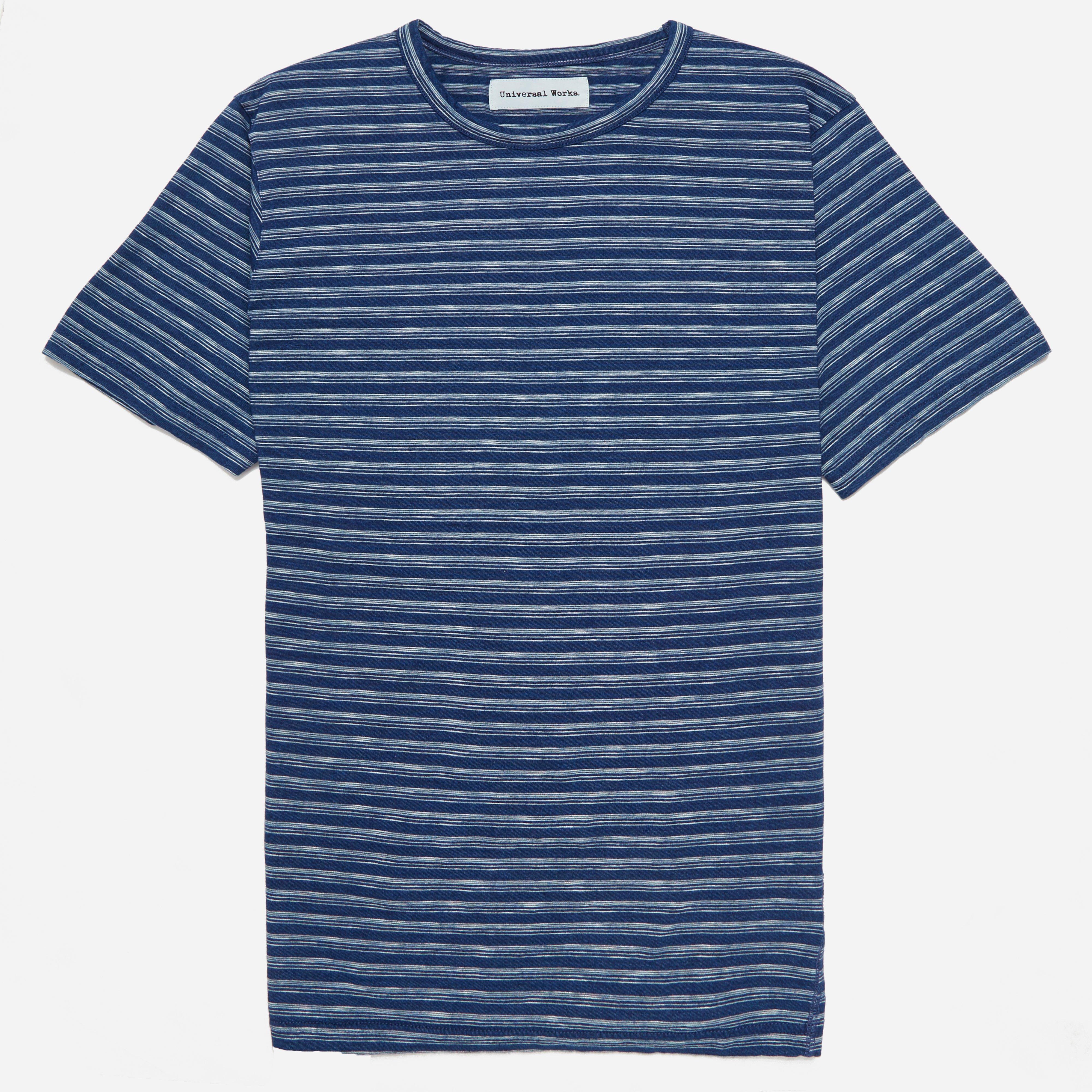 Universal Works Indigo Stripe T-shirt