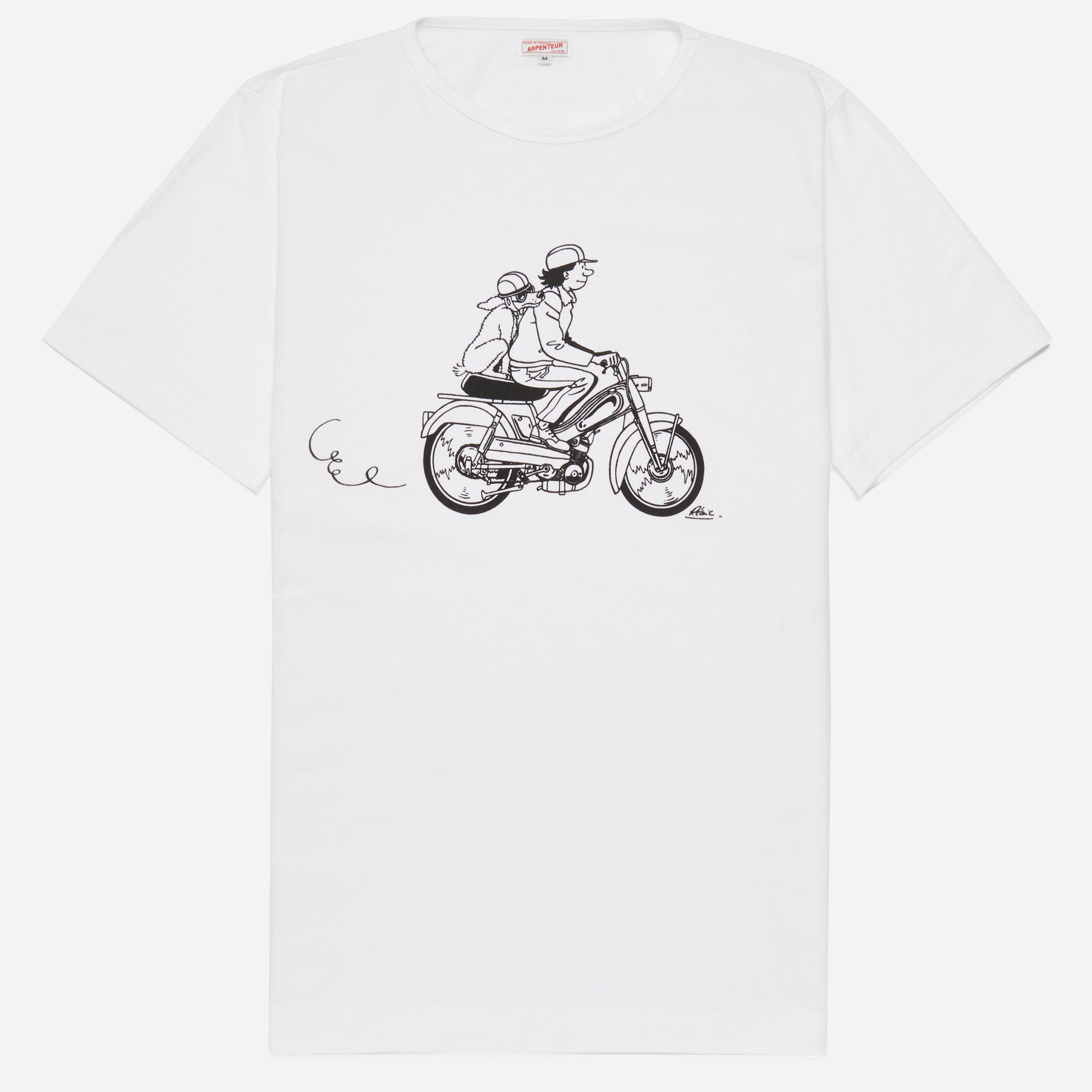 Arpenteur Ligne Claire Mobylette T-shirt