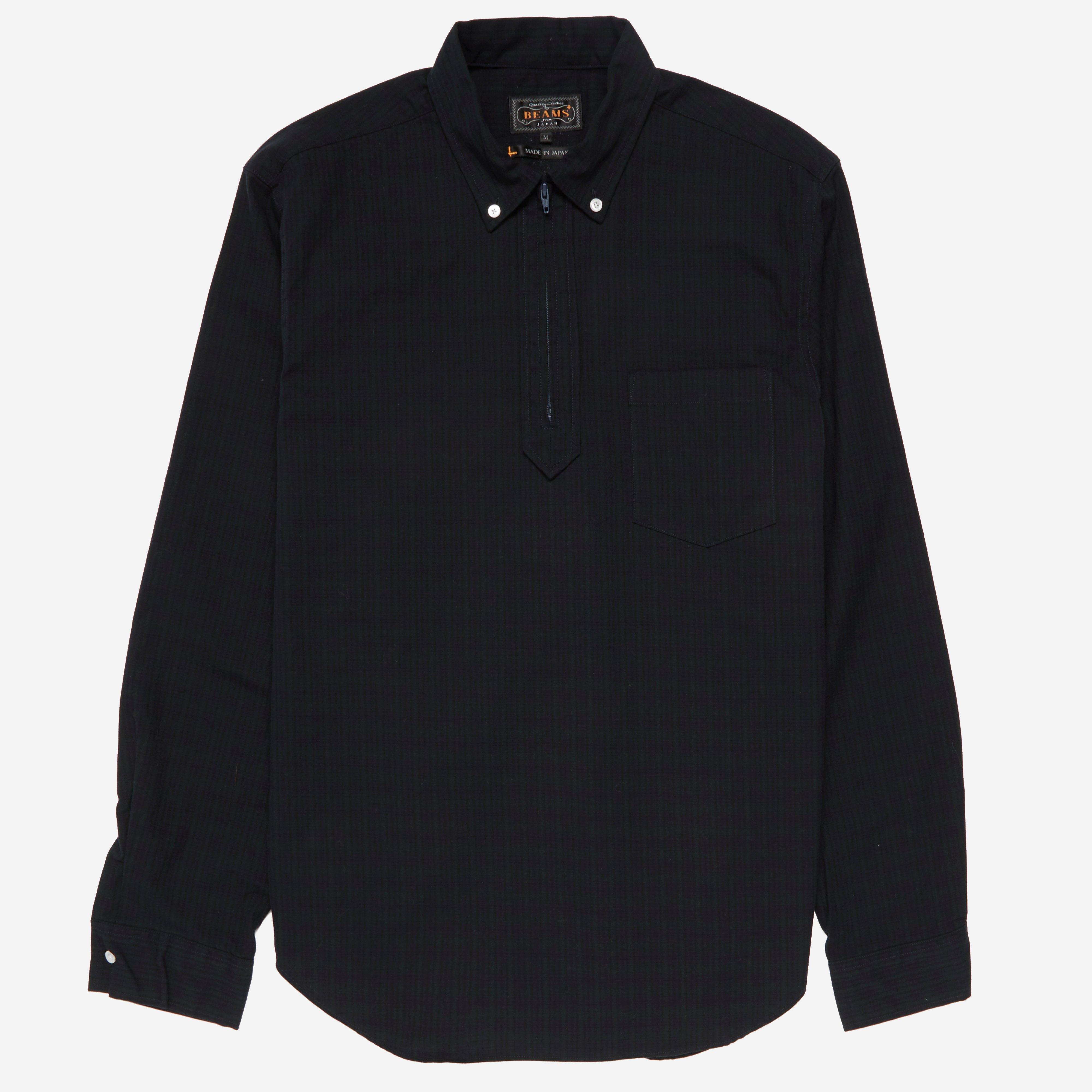 Beams Plus Half Zip BD Broad Check Shirt