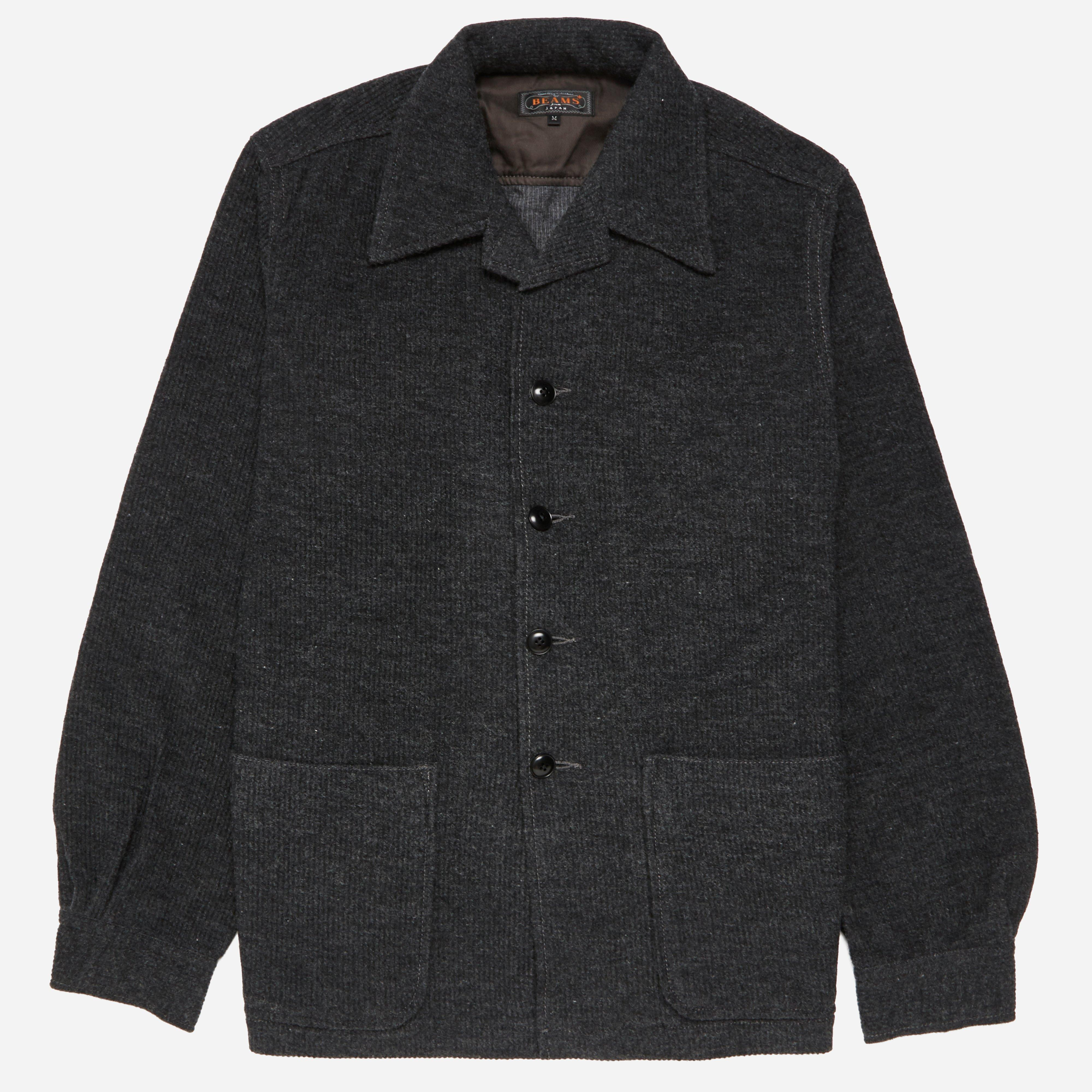 Beams Plus Cord Camp Collar Shirt Jacket