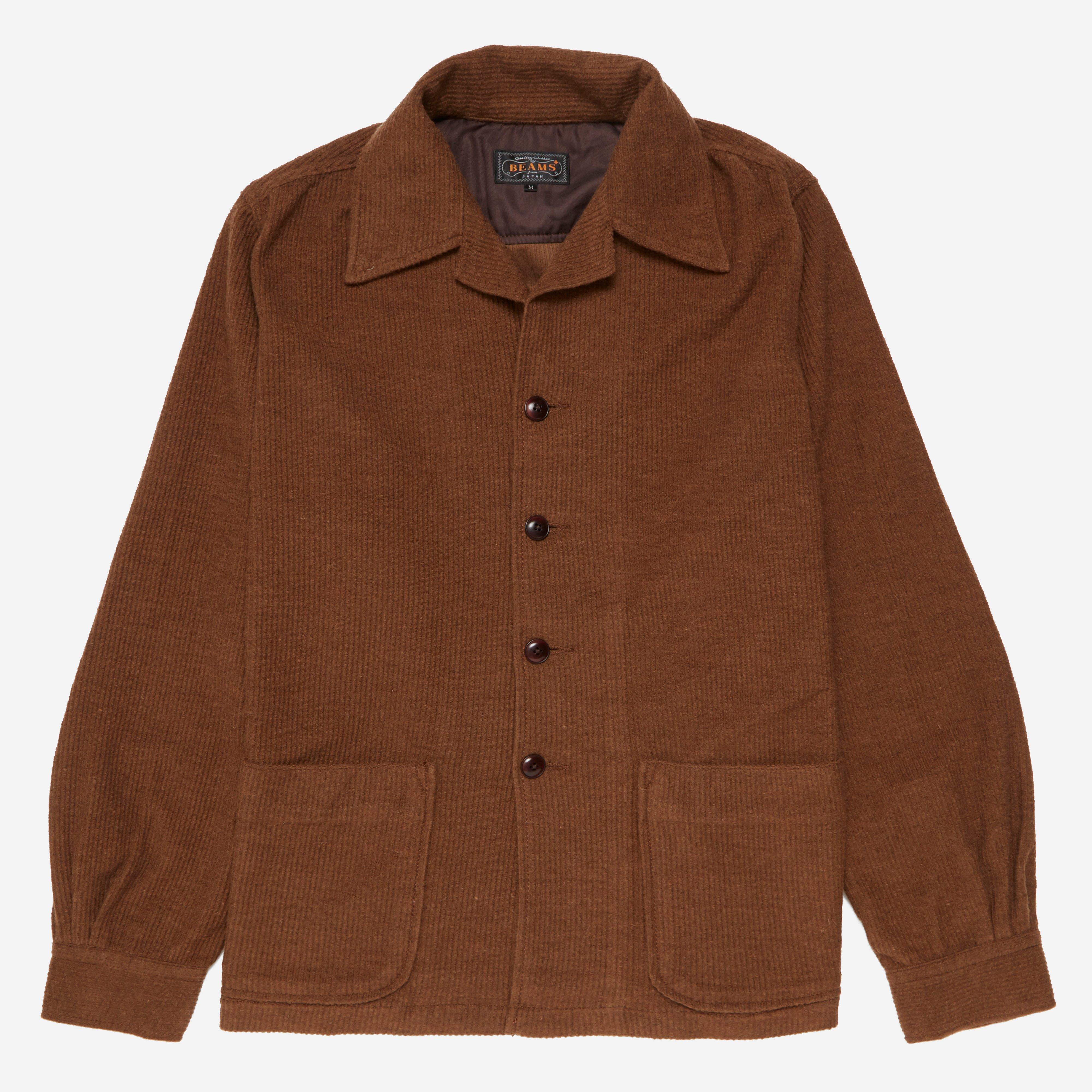 Beams Plus Cord Camp Collar Shirt Jacket