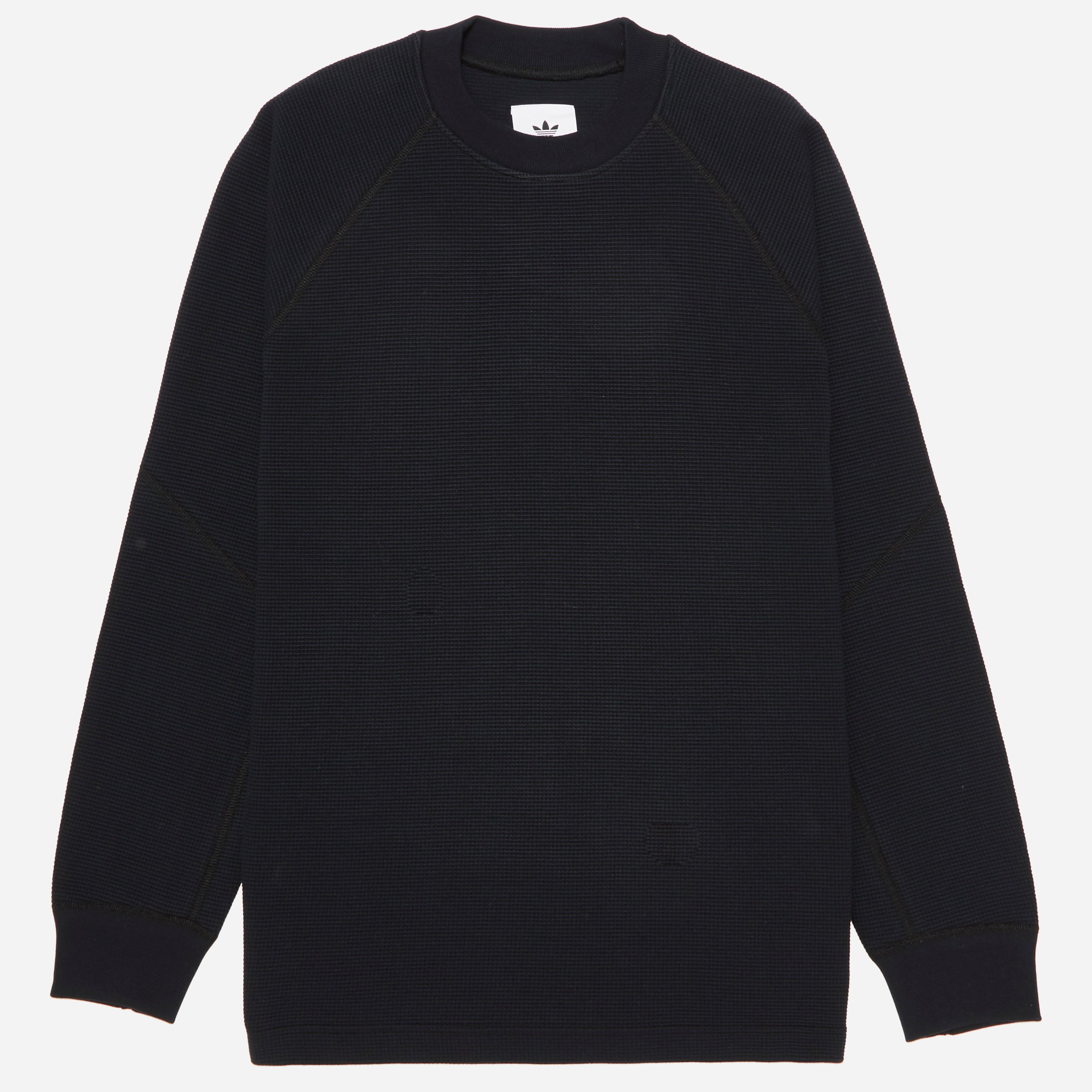 adidas Originals X Wings + Horns Double Waffle Knit Fisherman Crew Sweatshirt
