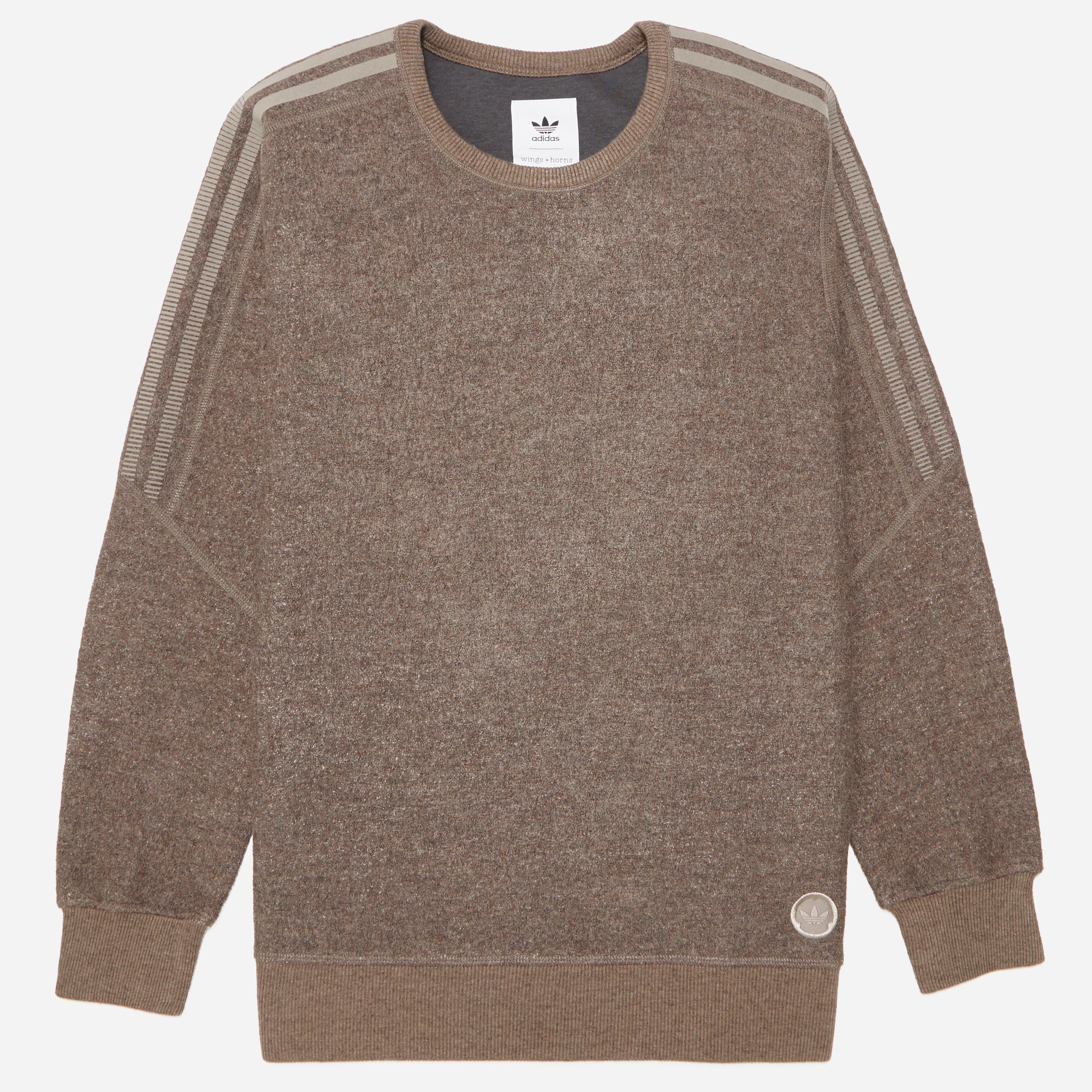 adidas Originals X Wings + Horns Bond Wool Crew Sweatshirts
