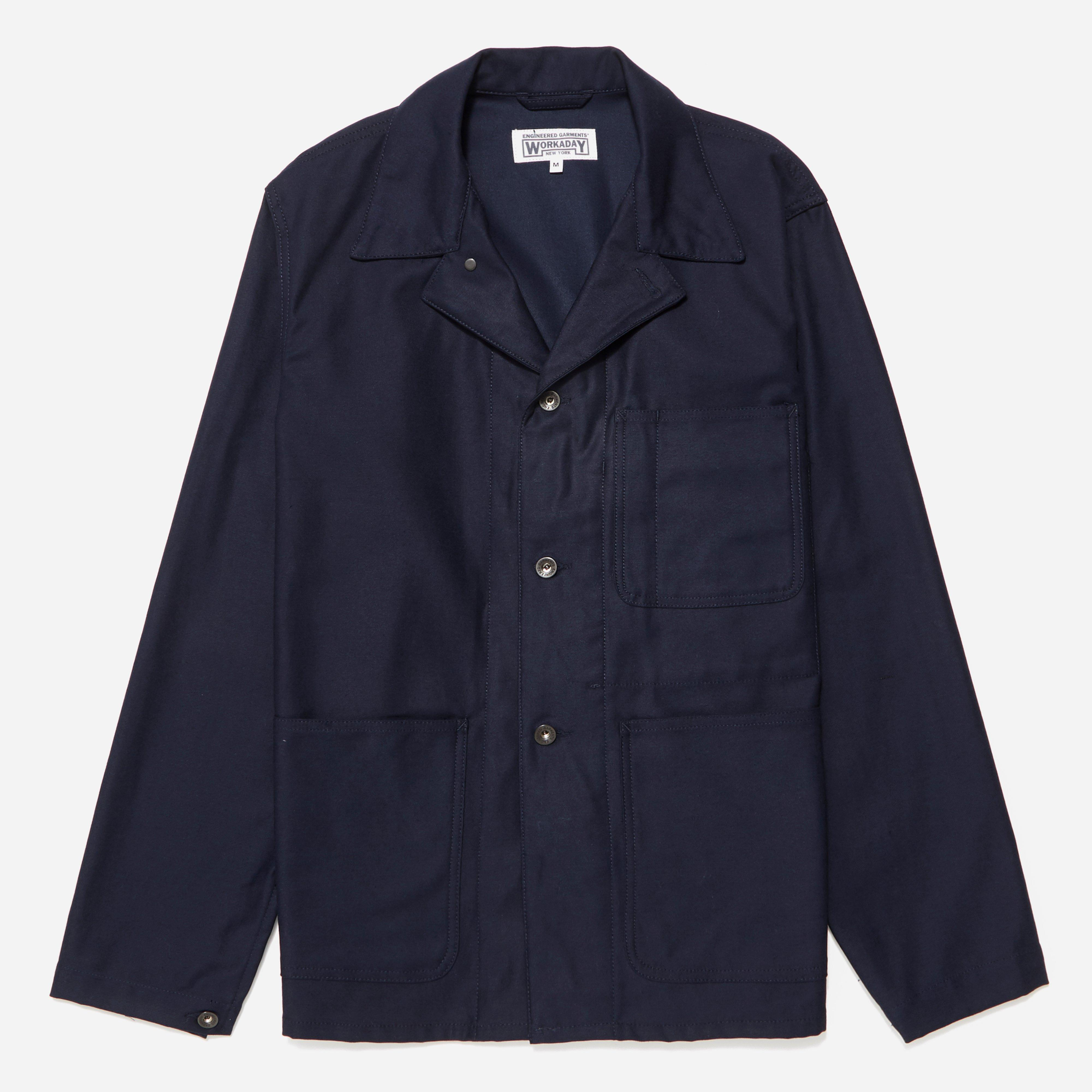 Engineered Garments Workaday Cotton Reversed Sateen Utility Jacket