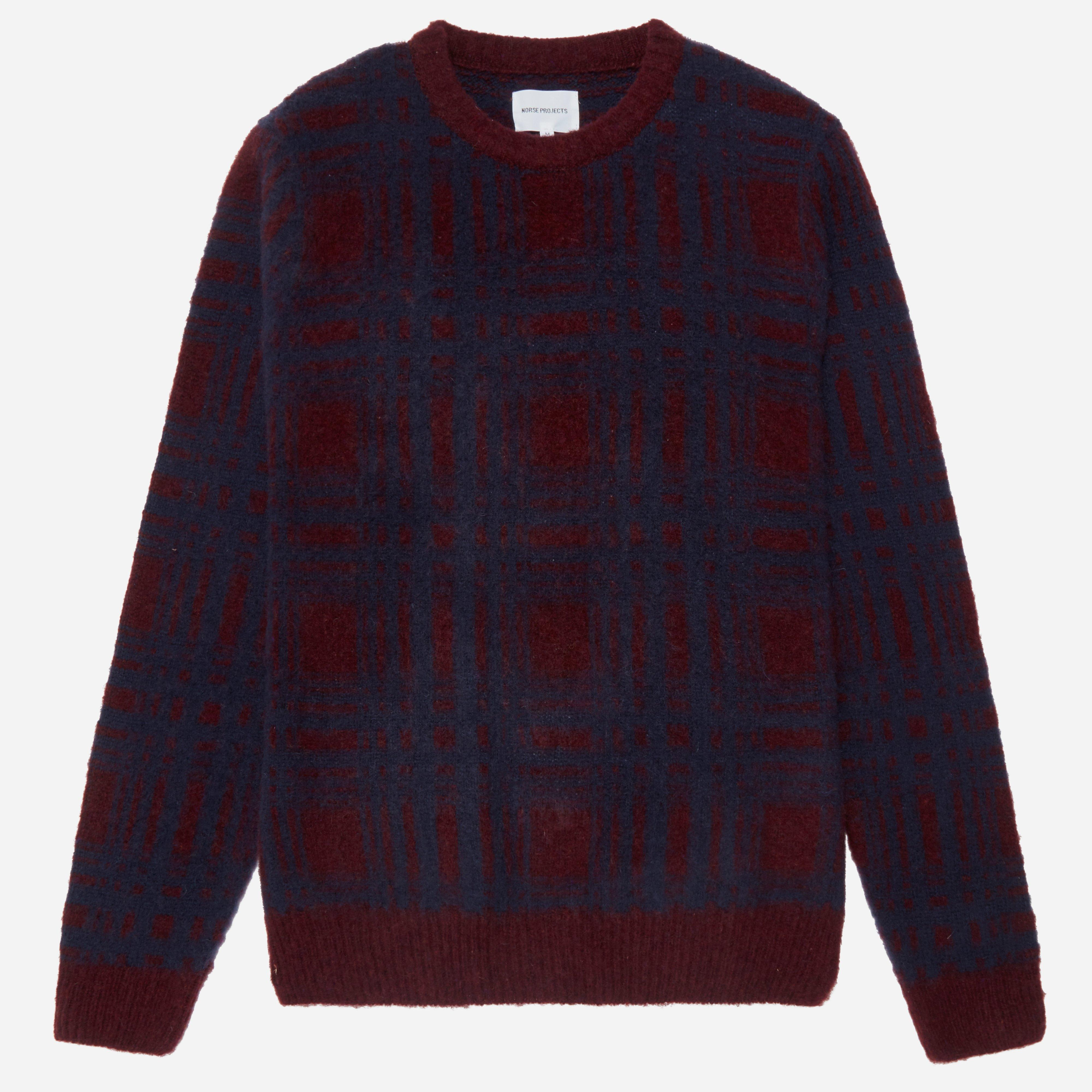Norse Projects Sam Intarsia Check Knit
