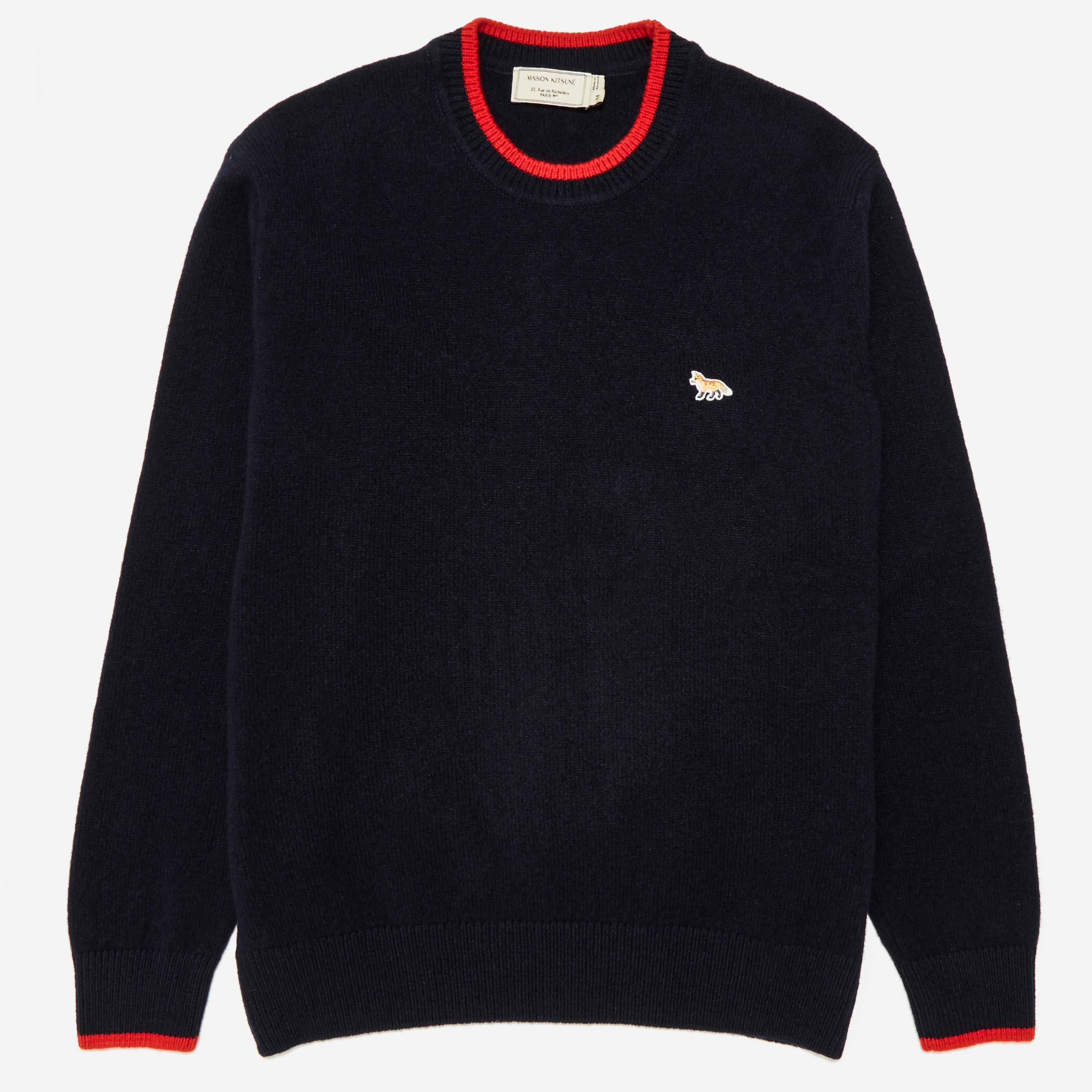 Maison Kitsune Lambswool R Neck Knit