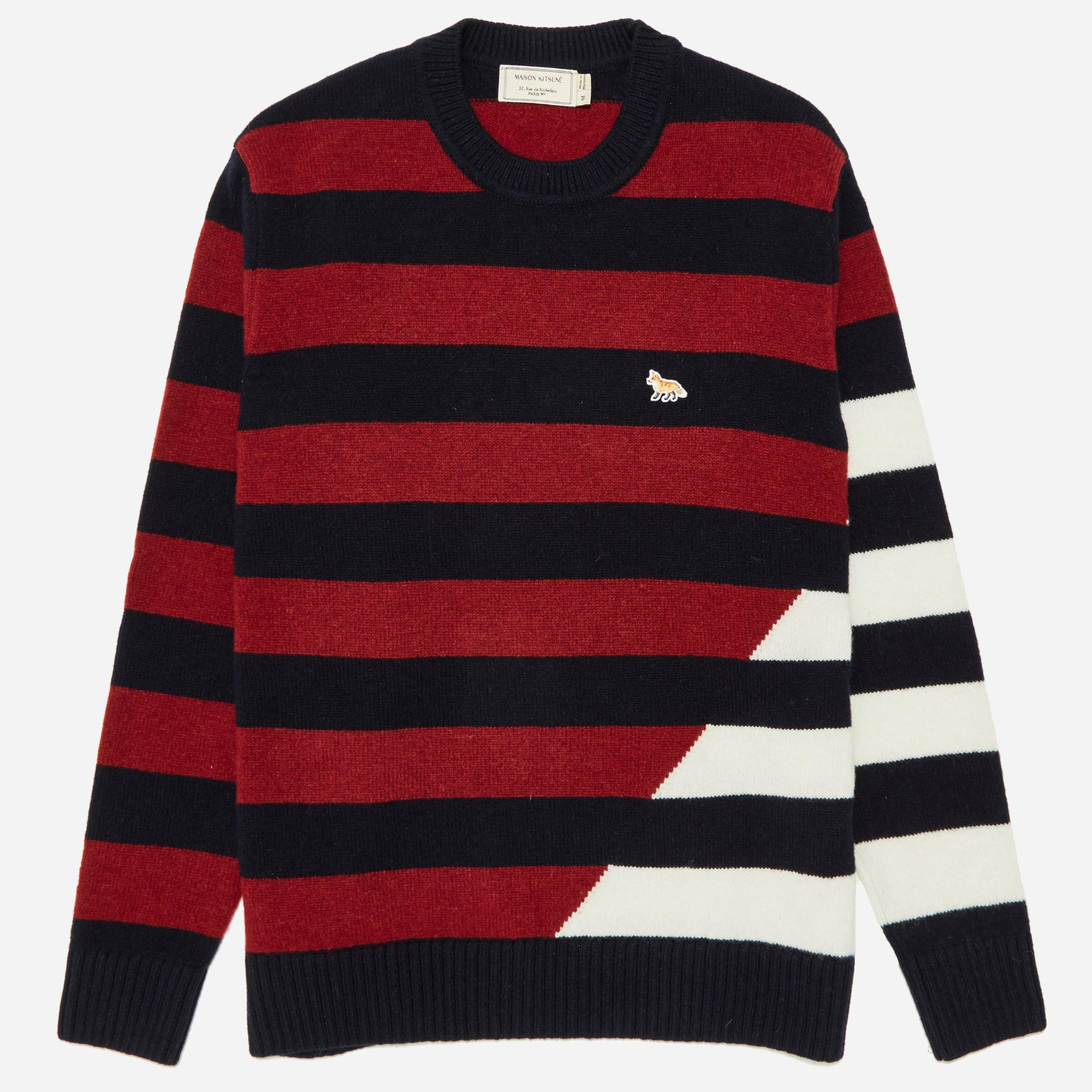Maison Kitsune Lambswool Stripe Knit
