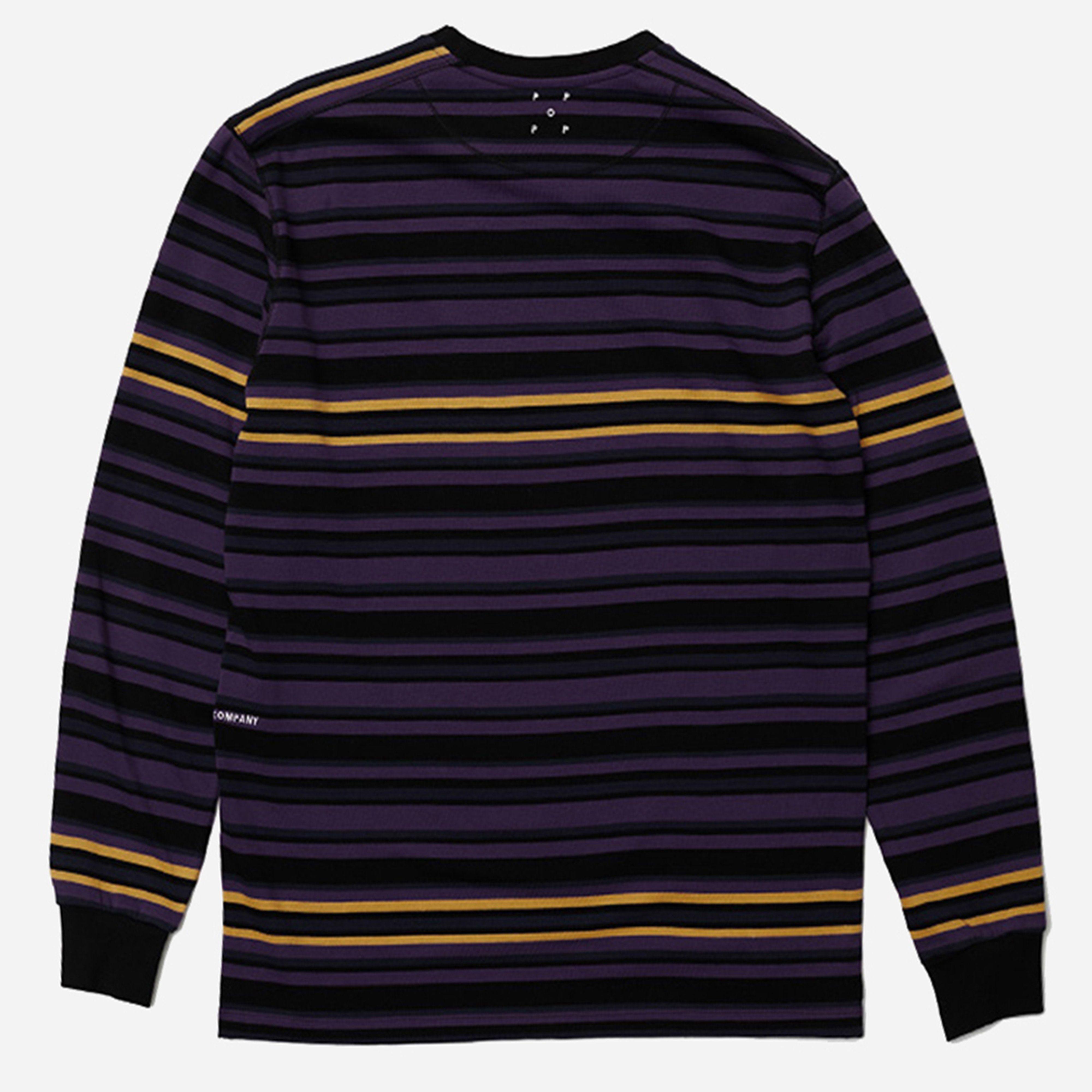 Pop Trading Company Nagel Striped Longsleeve T-Shirt