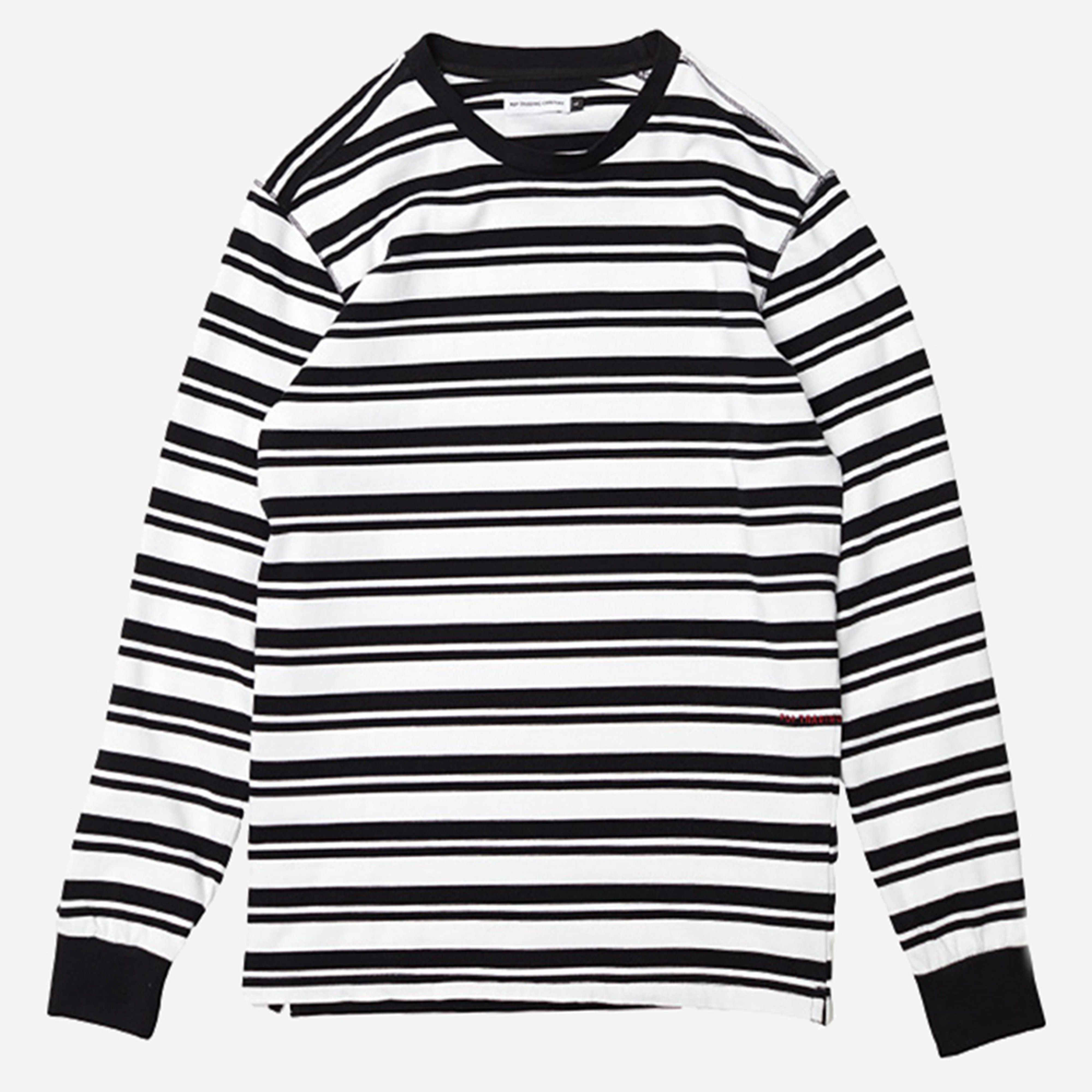 Pop Trading Company Striped Longsleeve T-Shirt