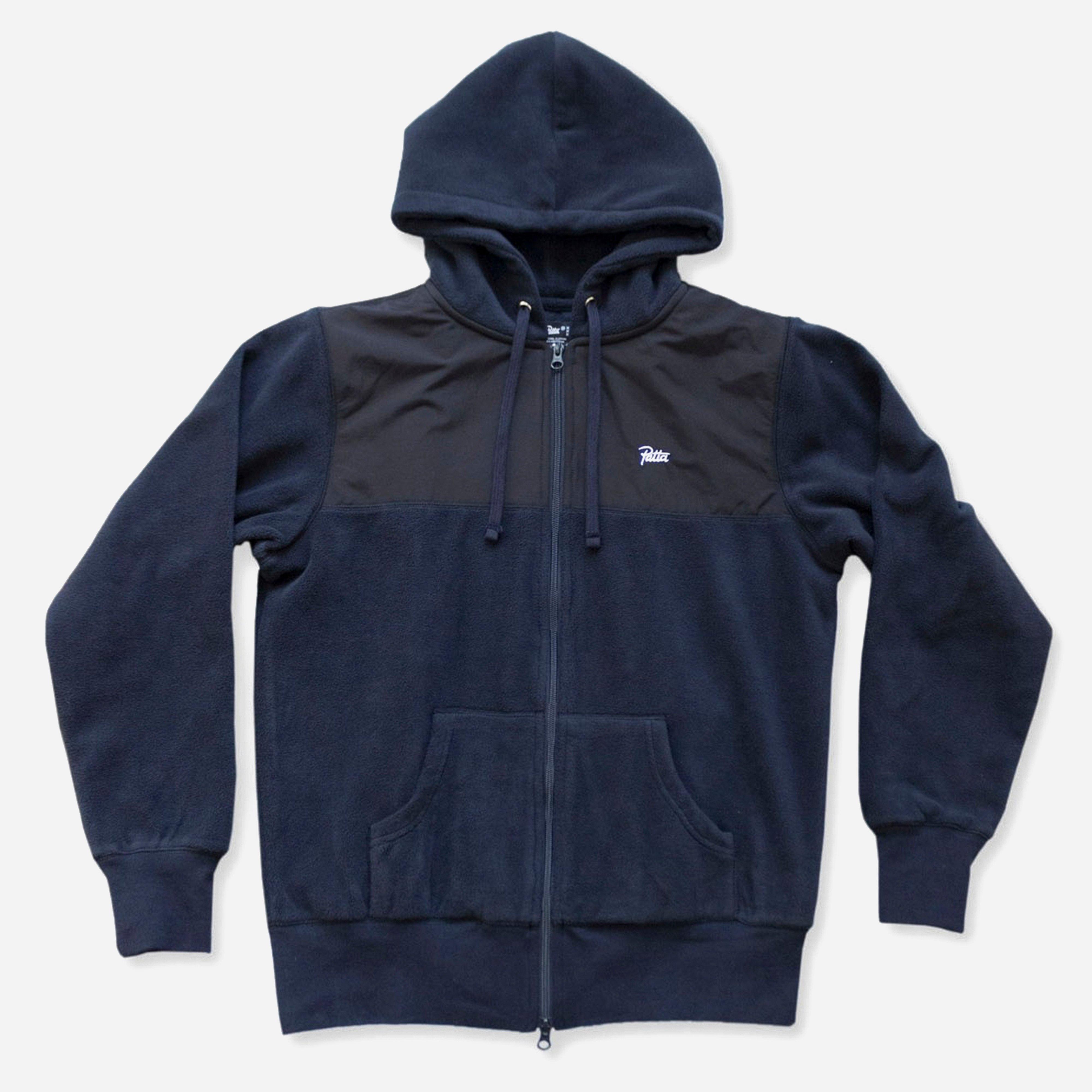 Patta 2 Tone Fleece Zip Hoodie