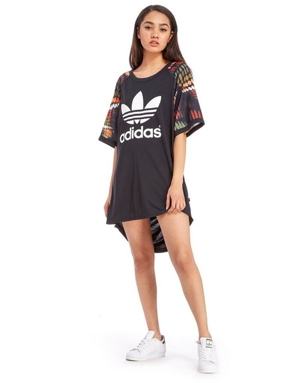 adidas Originals Rita Ora Trapeze Cut Out T-Shirt Dress