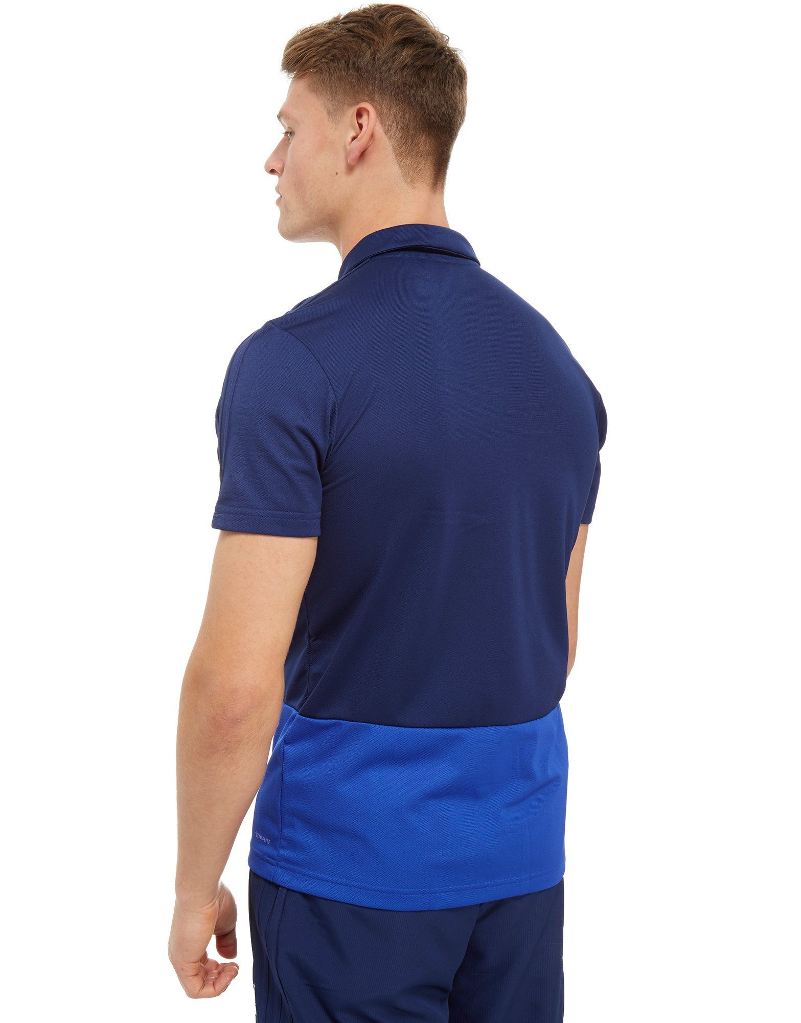 adidas Northern Ireland 2018/19 Polo Shirt Blau
