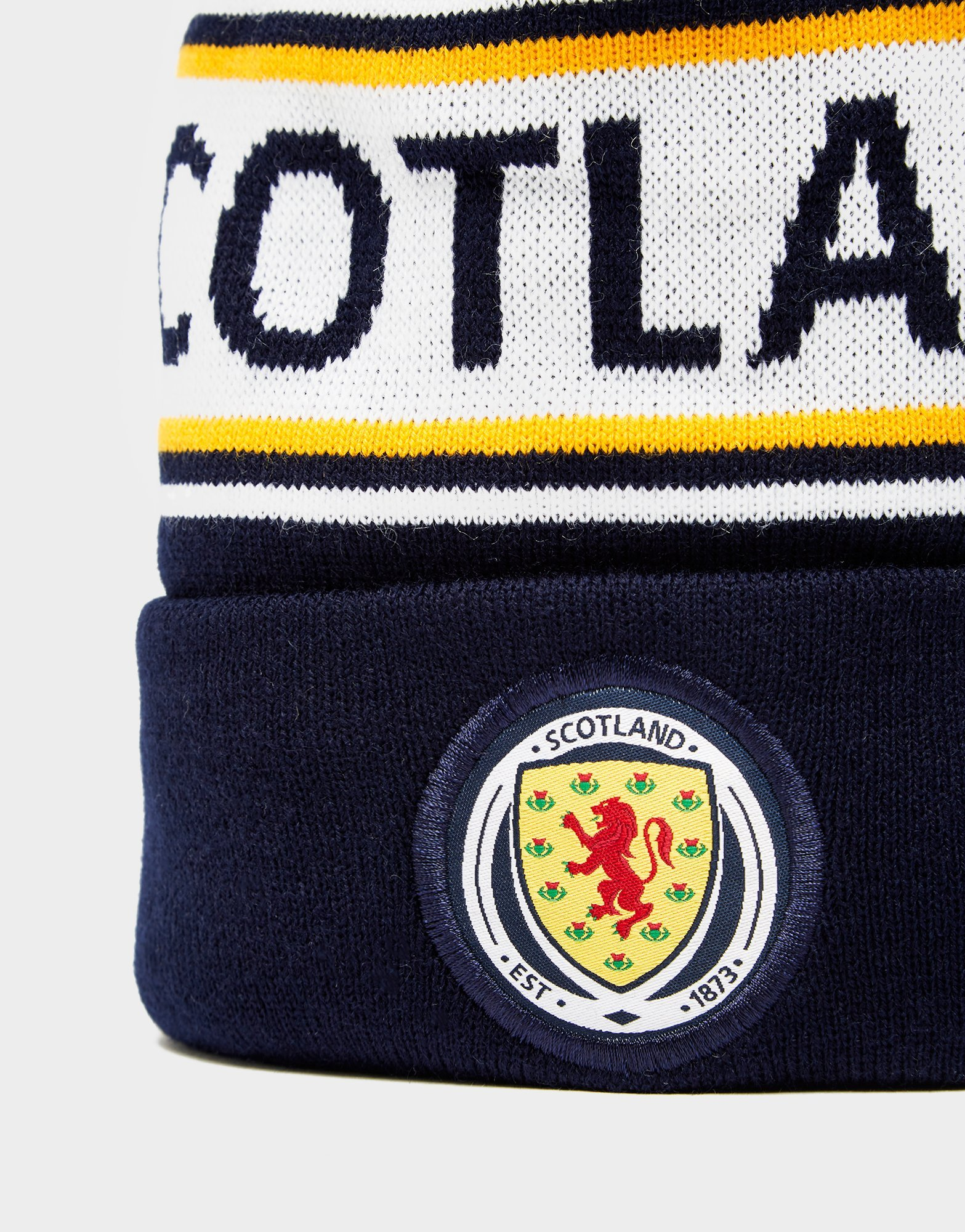 Official Team Scotland FA Text Knitted Bobble Hat