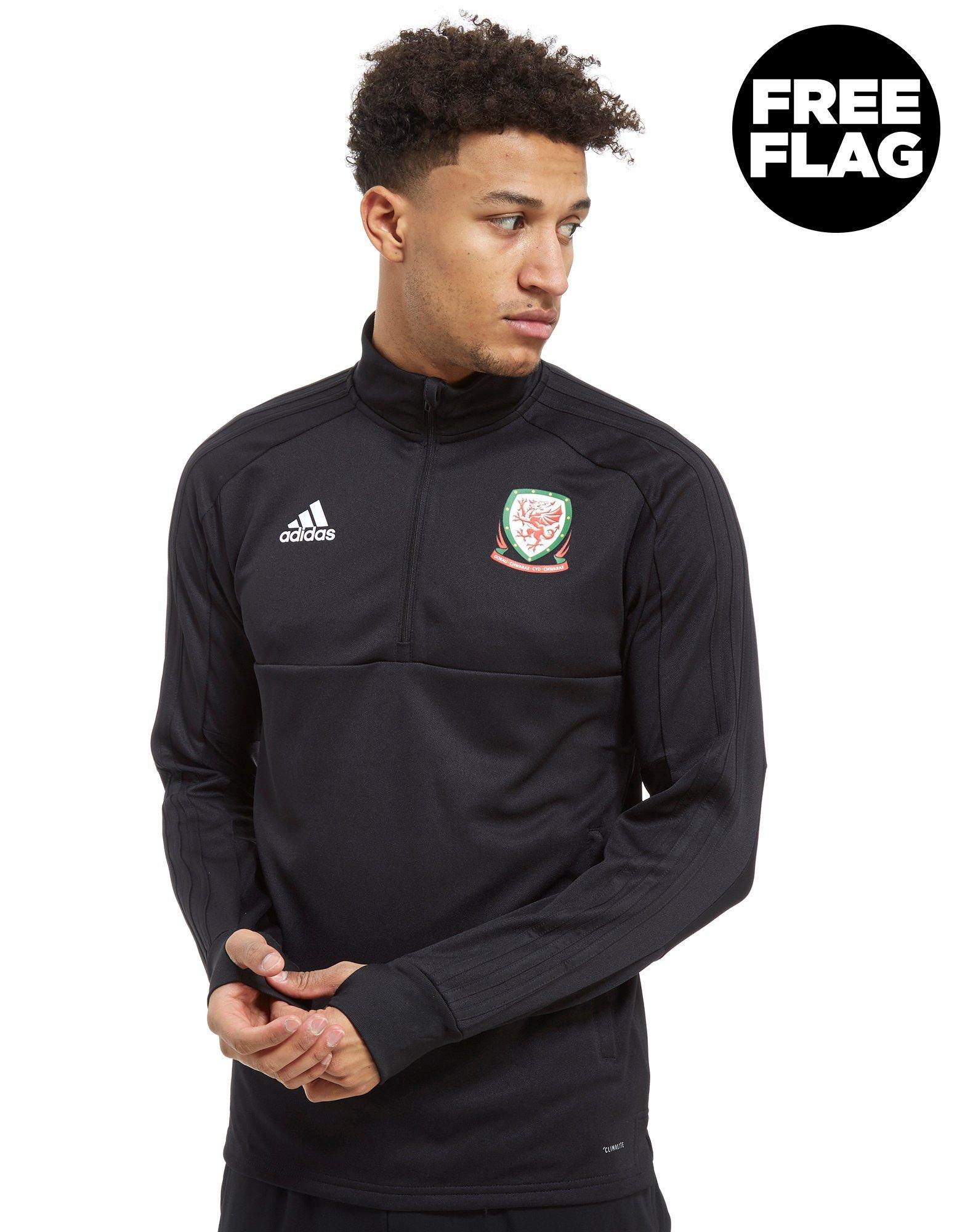 adidas FA Wales 2018/19 Half Zip Top