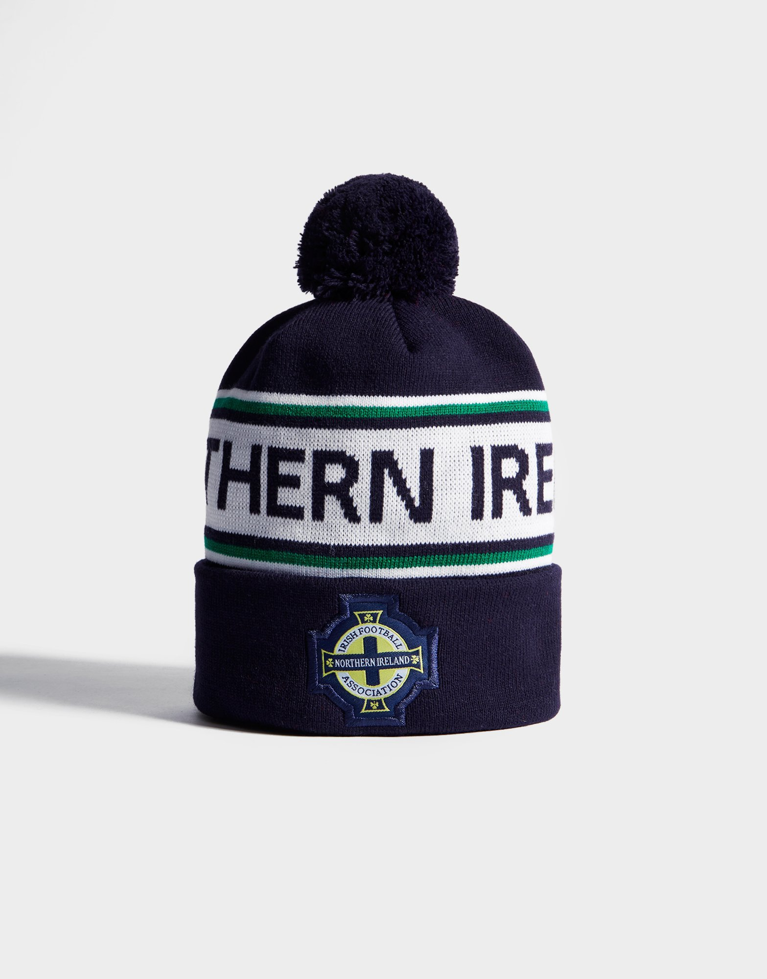 Official Team Northern Ireland Text Knitted Bobble Hat