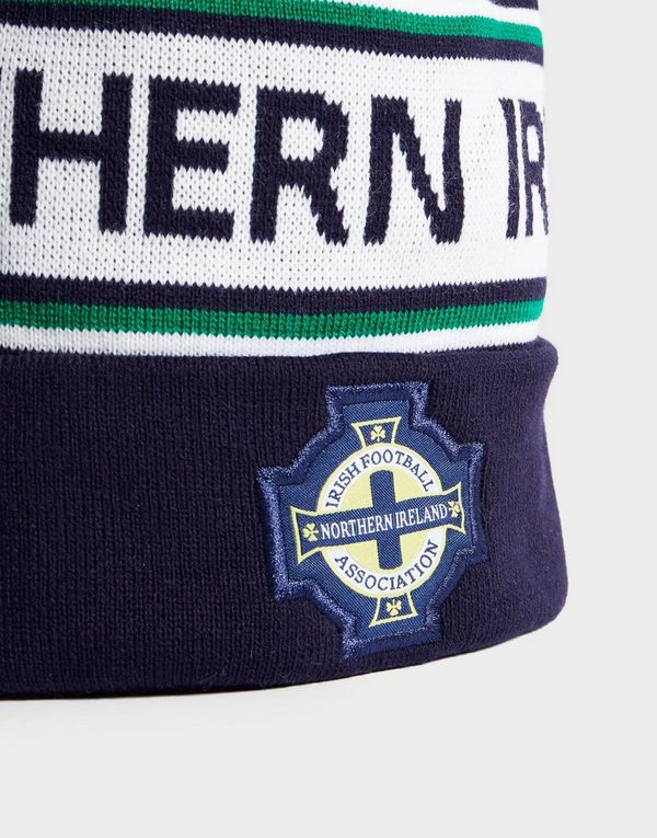 4195ddc96 Official Team Northern Ireland Text Knitted Bobble Hat