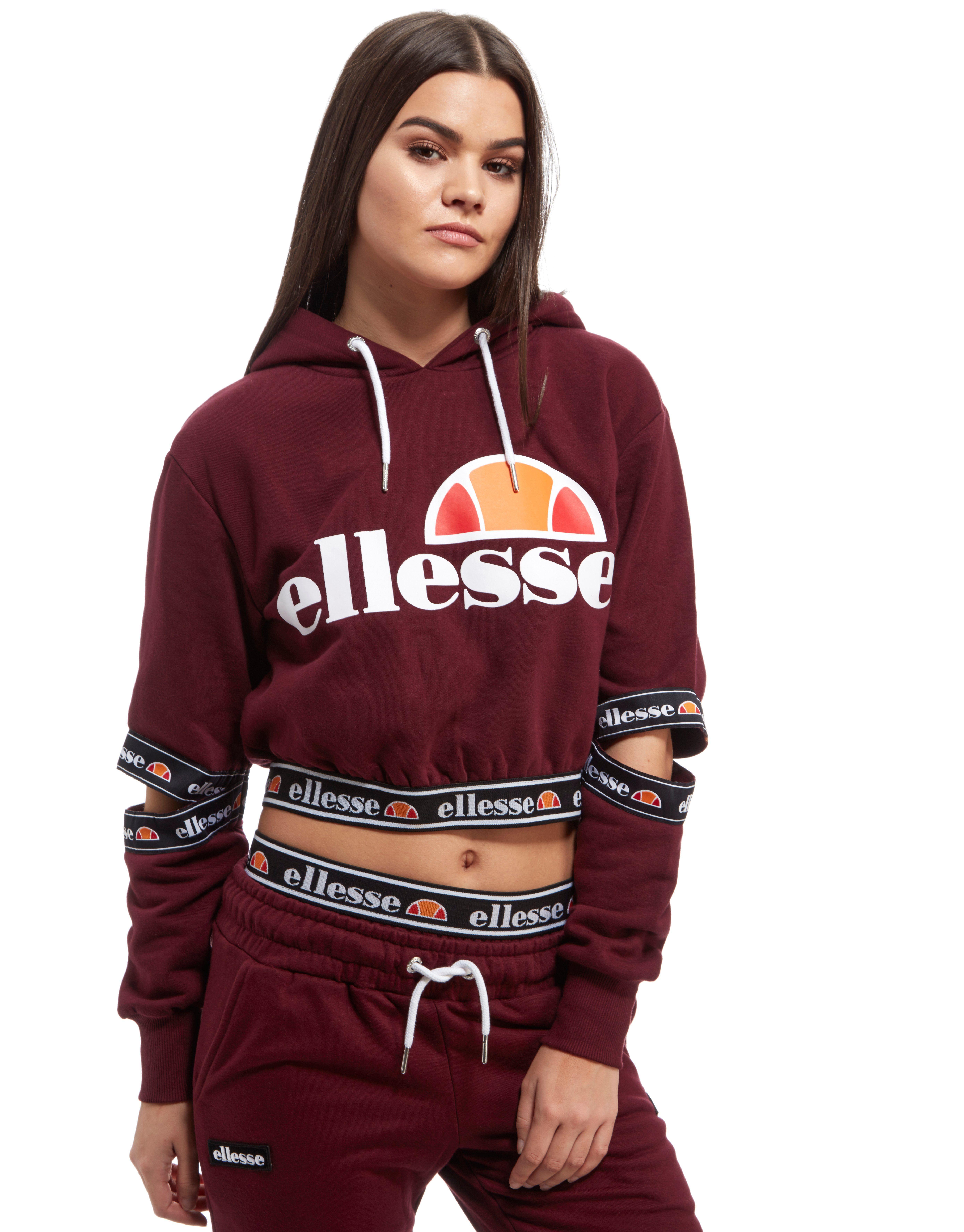 ellesse tape cut out hoodie jd sports. Black Bedroom Furniture Sets. Home Design Ideas