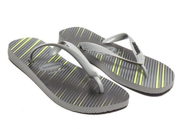 Havaianas top stripes logo black white mens womens unisex beach flip flops  womens shoeshavaianas