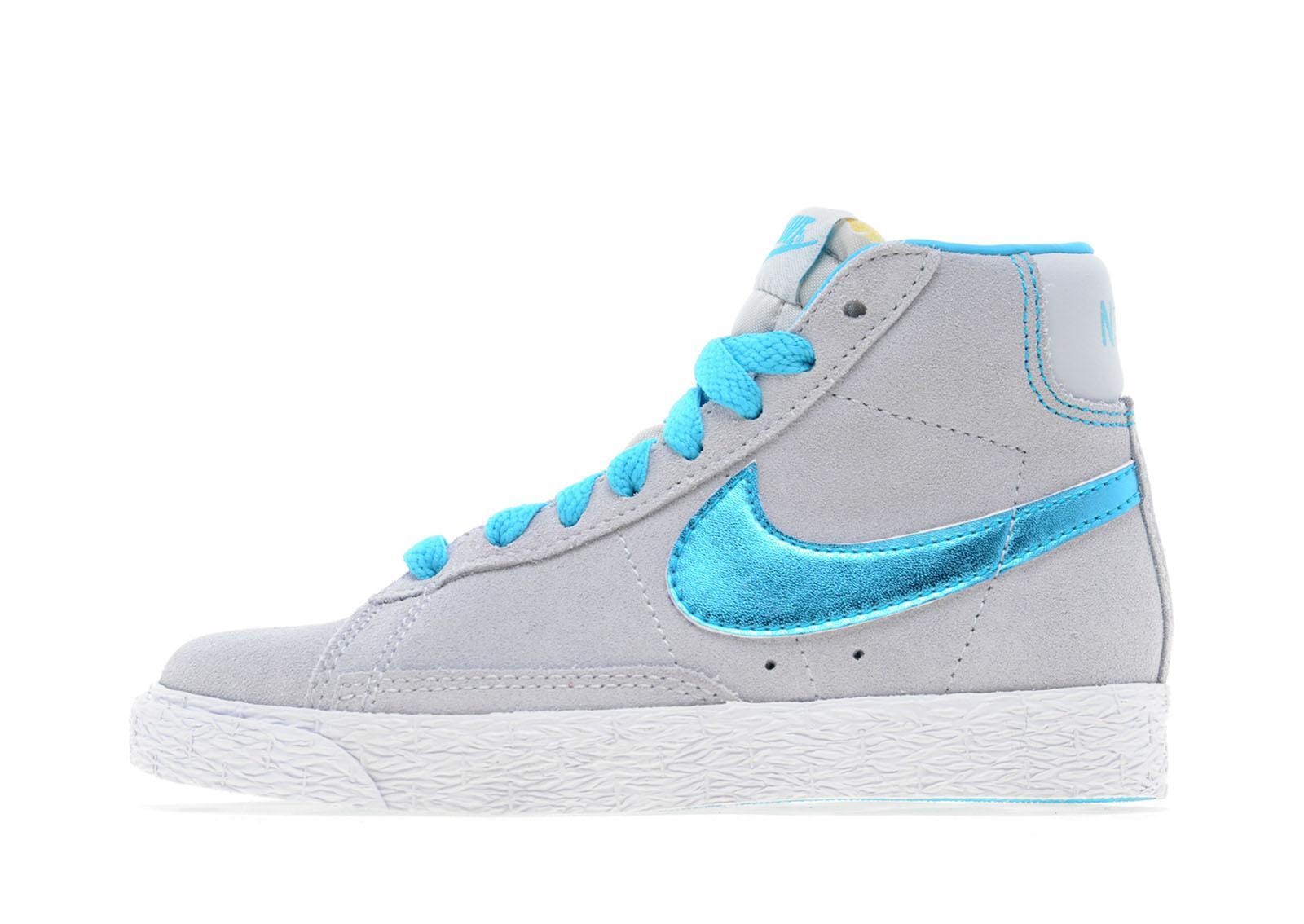 Nike Blazer Pour Enfants Formateurs Mi Vintage Fond Bleu / Rose réel à vendre Manchester en ligne réduction classique explorer LdWR8sqnQ