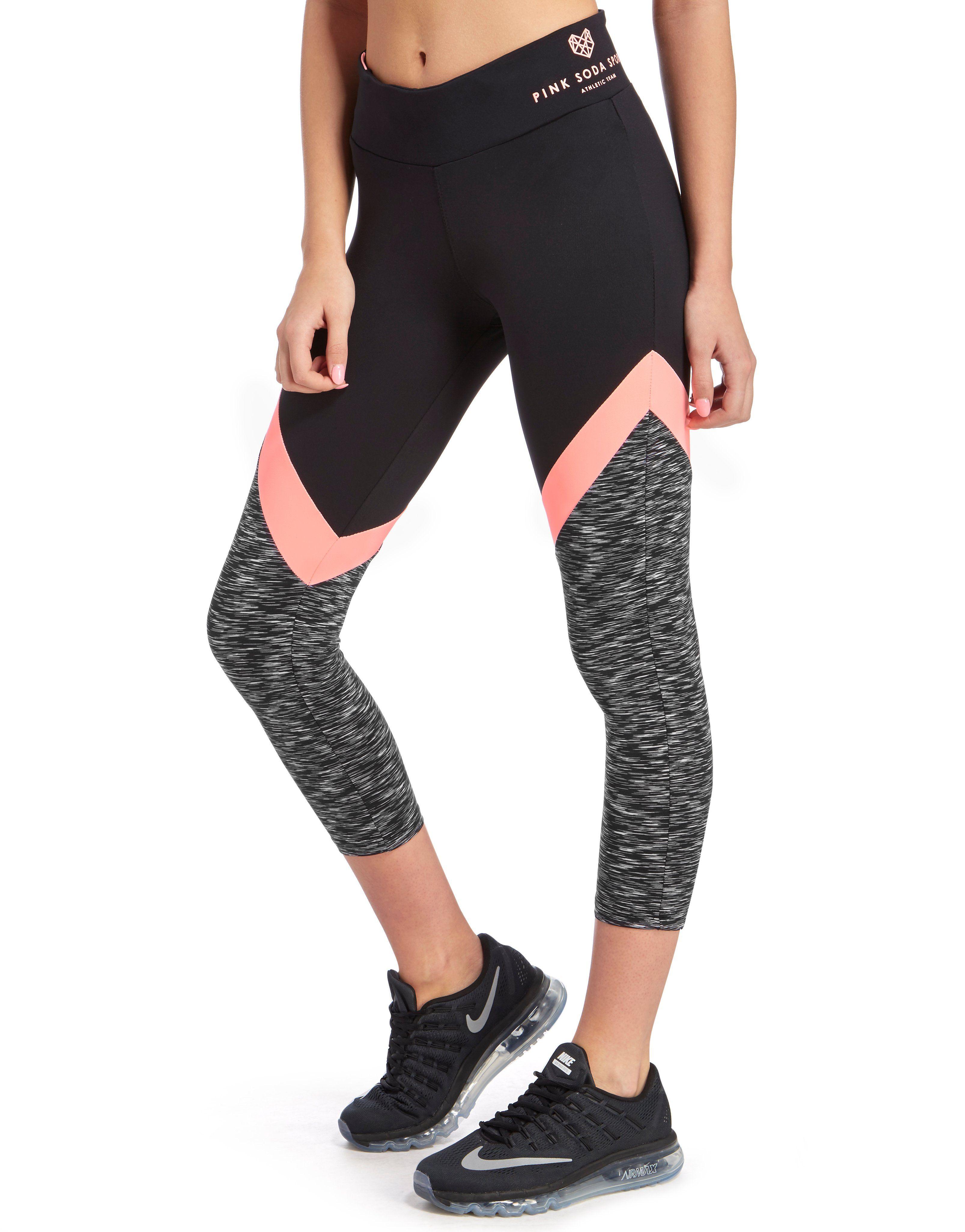 pink soda sport space dye capri leggings jd sports. Black Bedroom Furniture Sets. Home Design Ideas