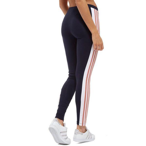 0f9d0d490b0a0 adidas Originals 3-Stripes Panel Leggings Marineblau-Pink | JD Sports