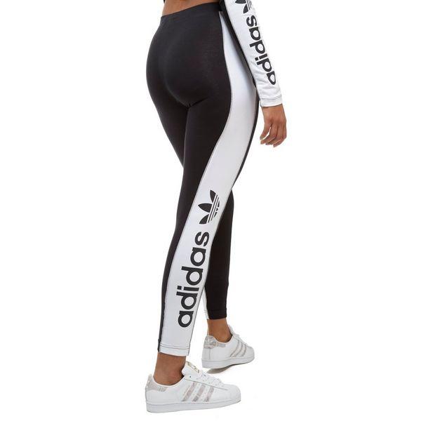 adidas originals linear leggings schwarz wei jd sports. Black Bedroom Furniture Sets. Home Design Ideas