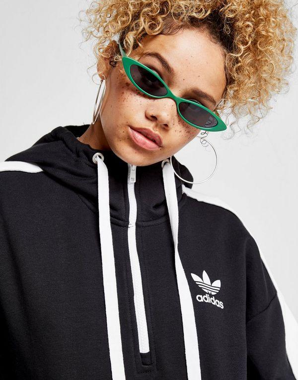Hoodie Adidas Linear 1 2 Schwarz Zip Originals