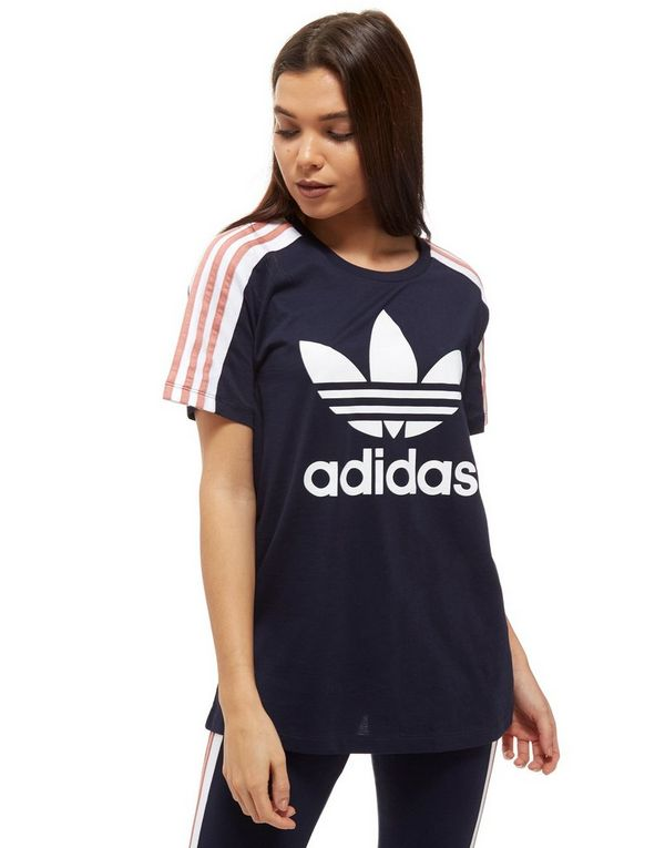 adidas 3 stripe t shirt