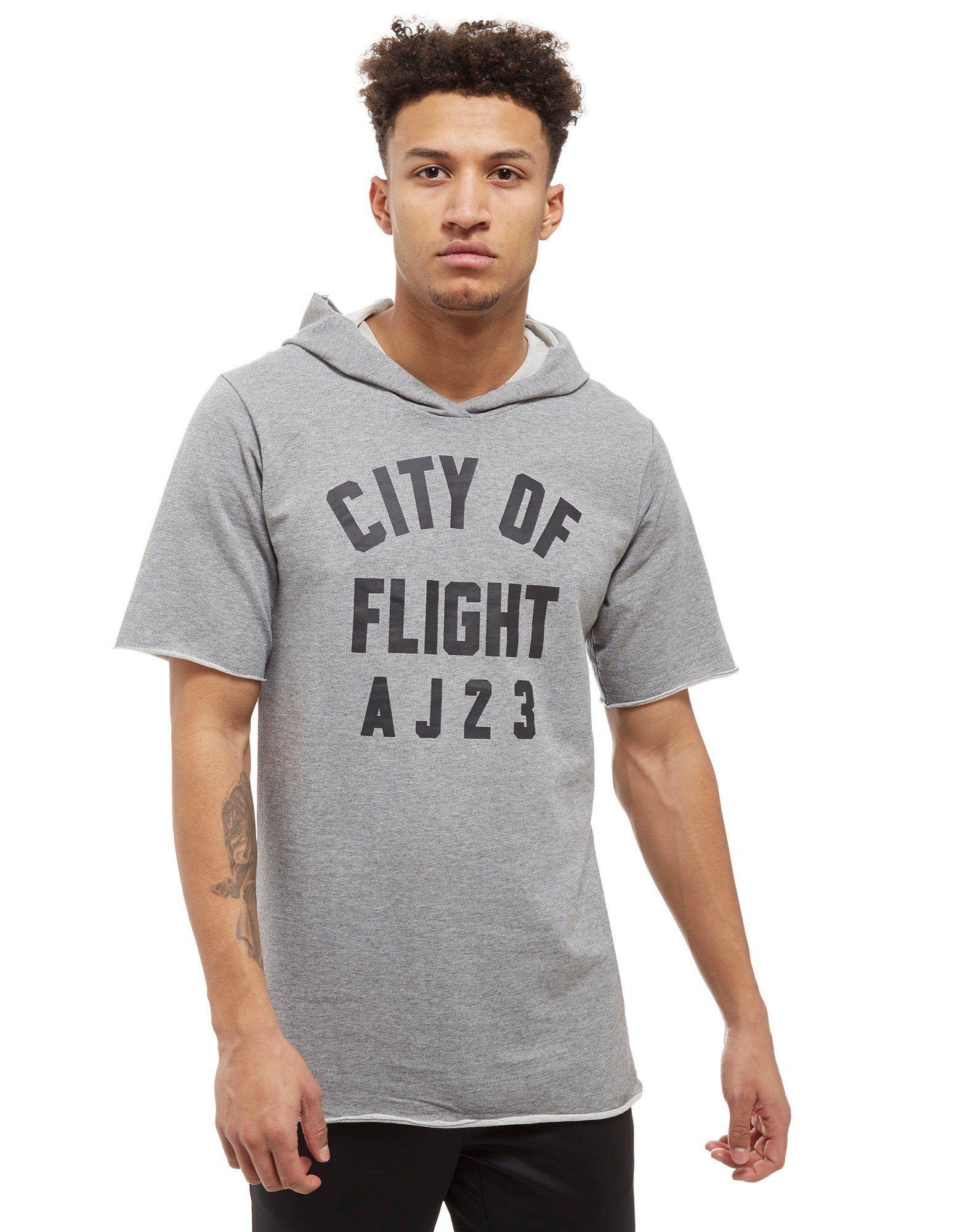 c9a520a70d556e Jordan Sportswear  Jordan City of Flight Short Sleeve Hooded Top JD Sports  ...