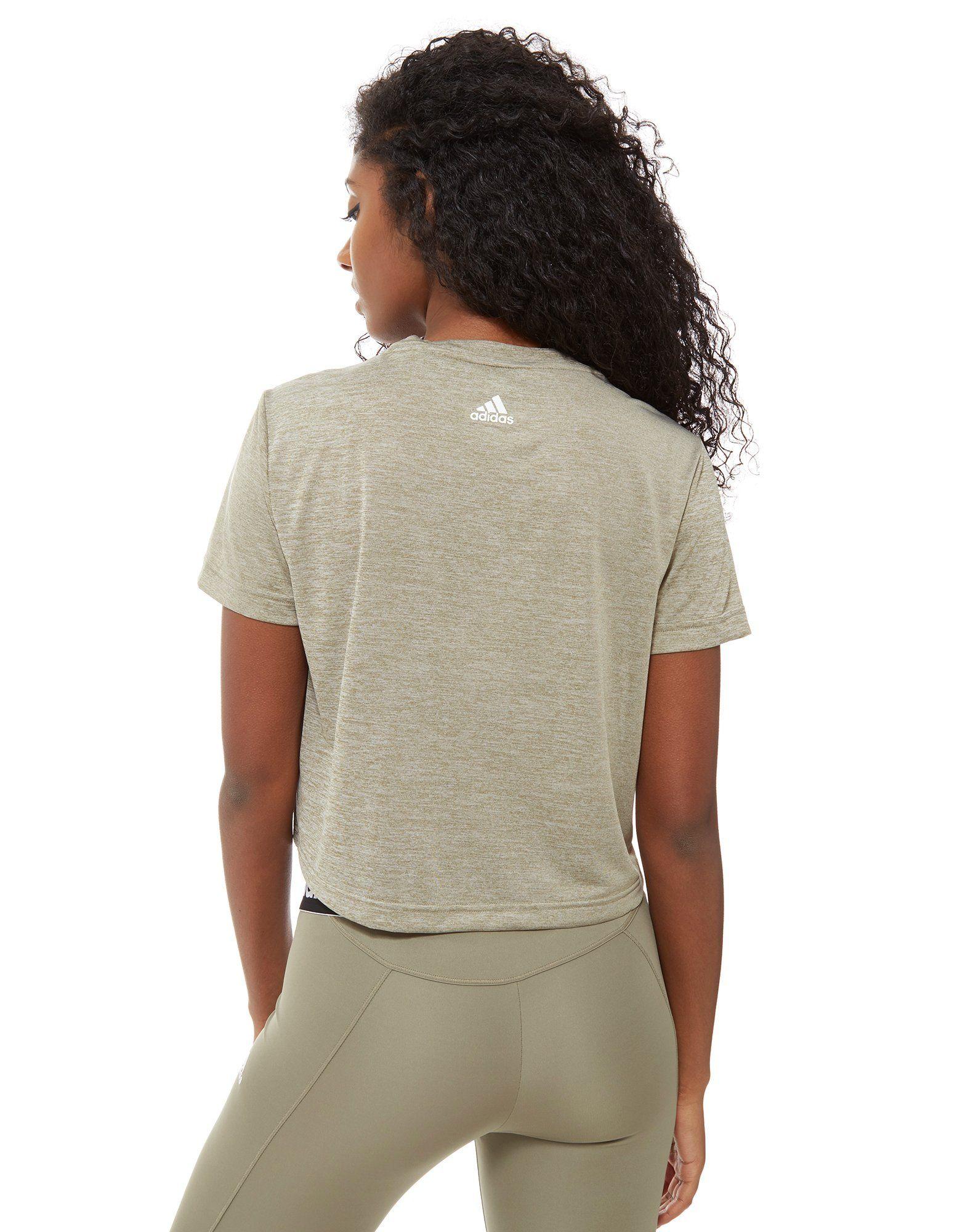 adidas Linear Crop T-Shirt Grün