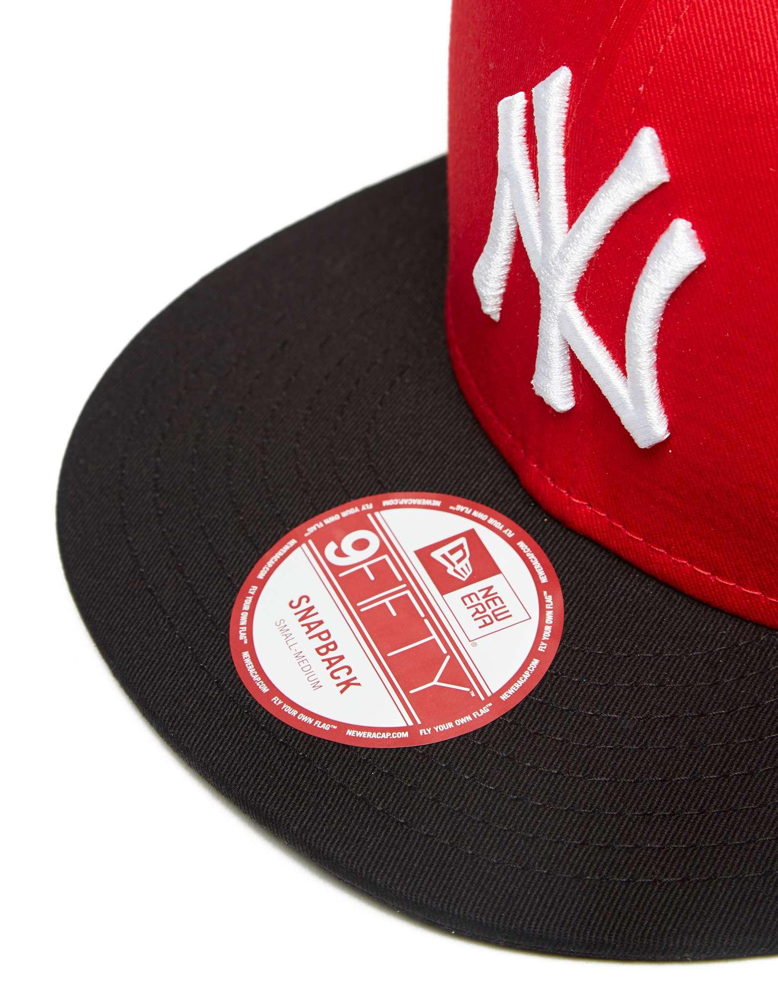 New Era MLB New York Yankees Cotton Block Snapback Cap