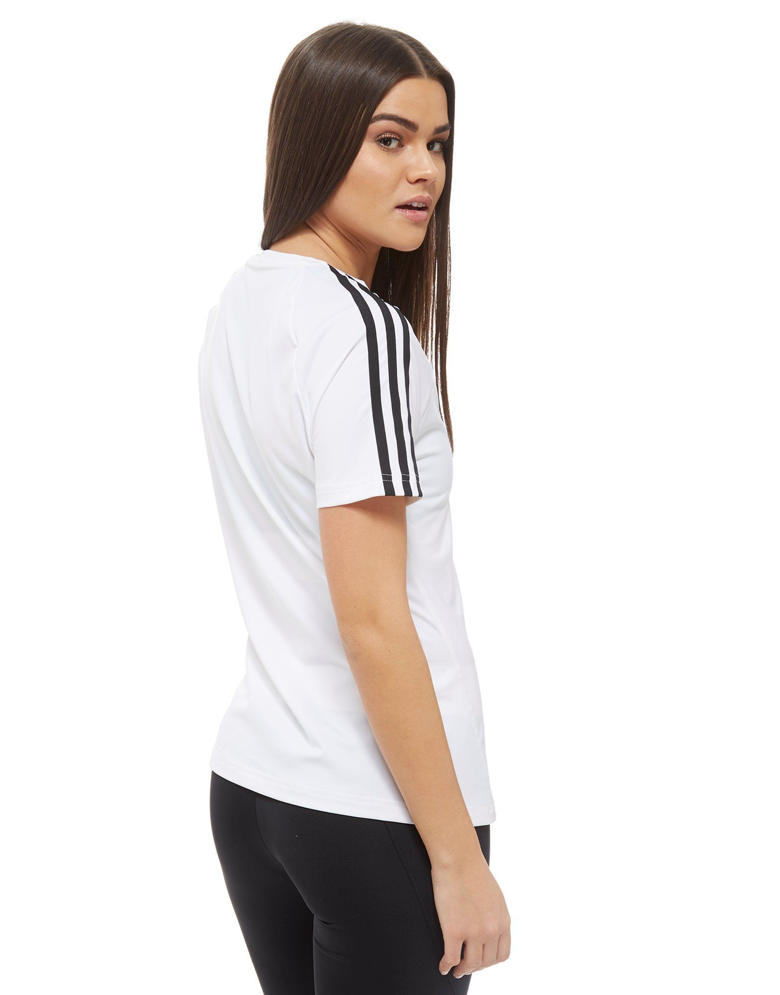 Shirt adidas 3 T 3 adidas Stripes Training T Training Weiss Shirt Stripes BvwZxq7rB