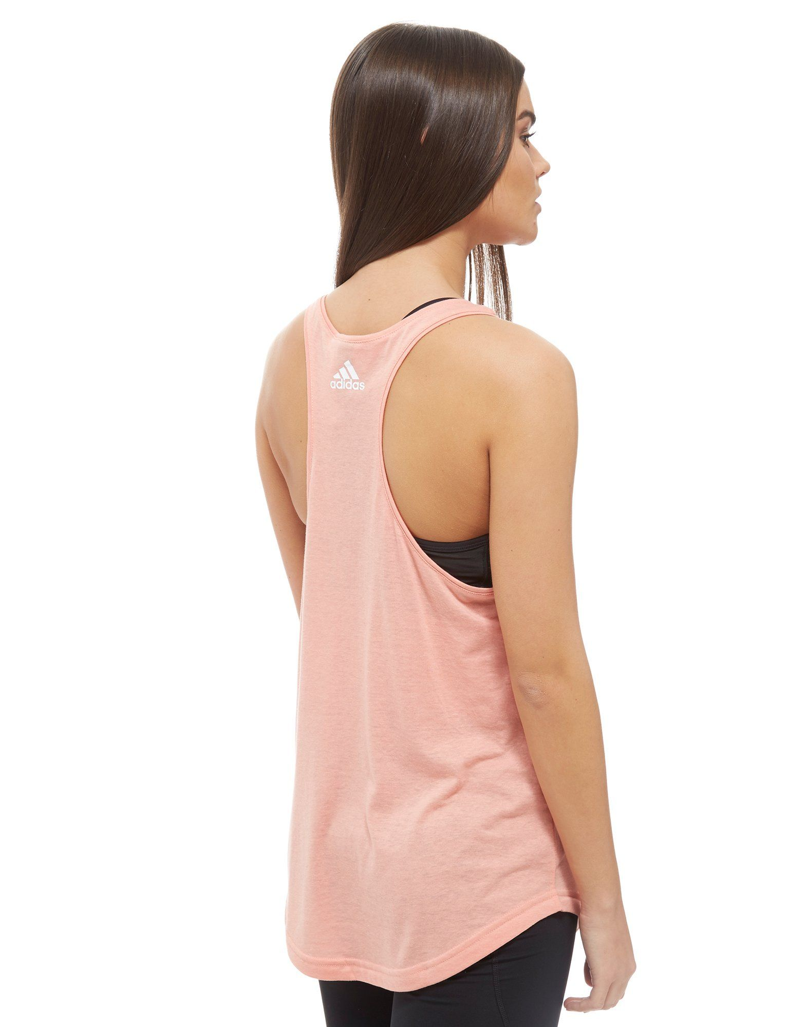 adidas Essential Linear Tank Top Pink