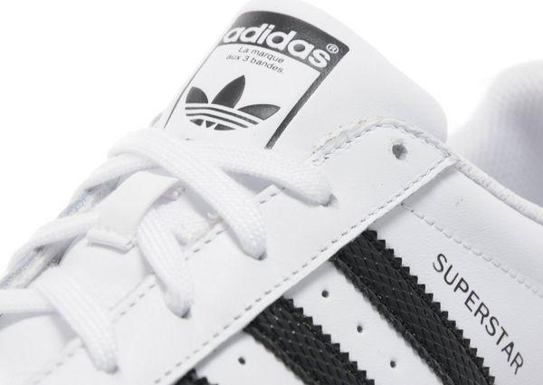 childrens black adidas superstar trainers